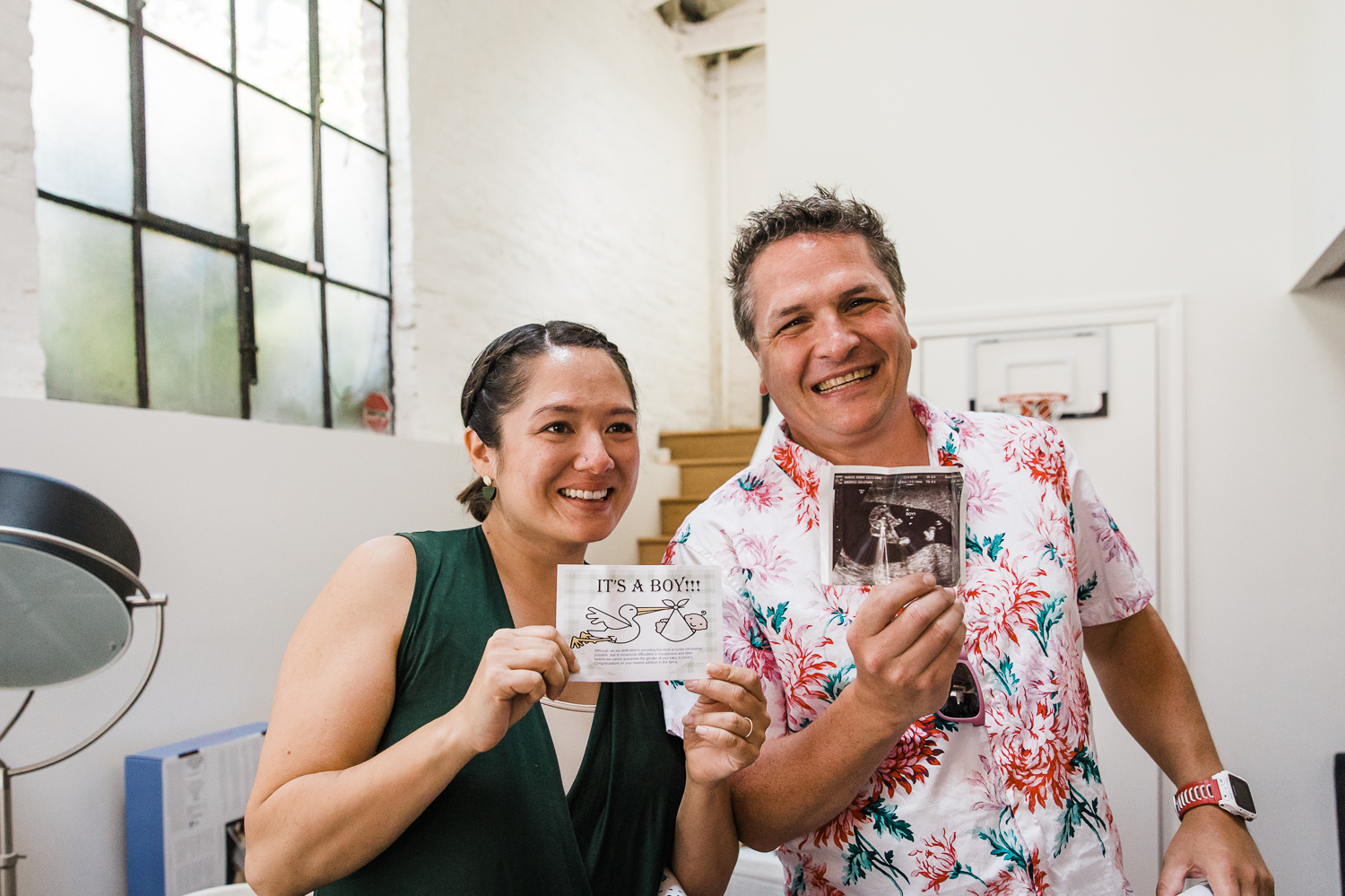 Soon to be parents reveal the gender and ultrasound photo {San Francisco Newborn Photographer}