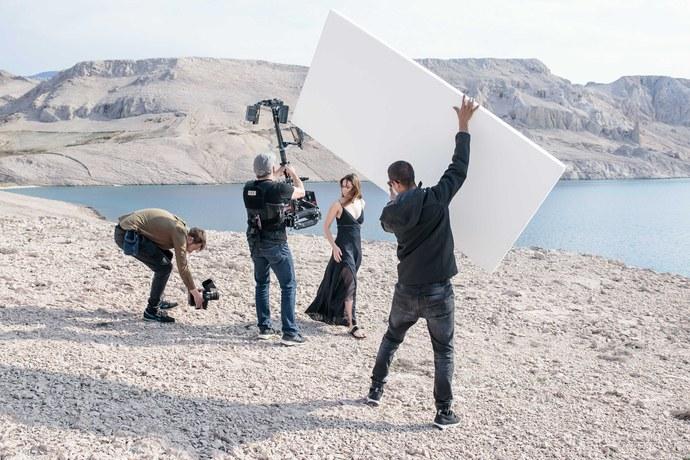 """Essence of Radiance"" video shoot directed by Alisha Goldstein. Photo courtesy of Clé de Peau Beauté."