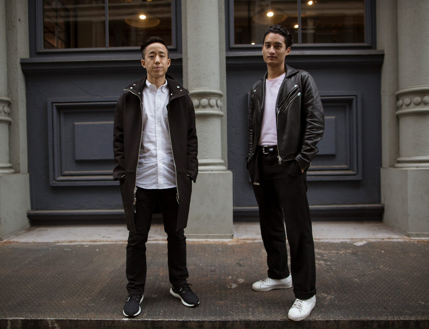 Left, Brian Jeong and right, Phillip Wong, Co-Founders of Hawthorne. Photograph by James Cole.