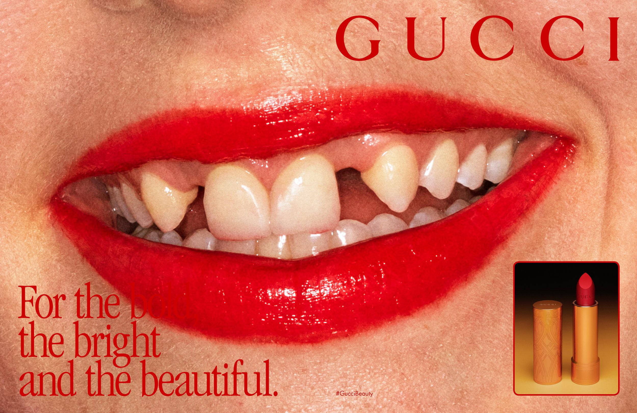Gucci's new makeup campaign 2019.