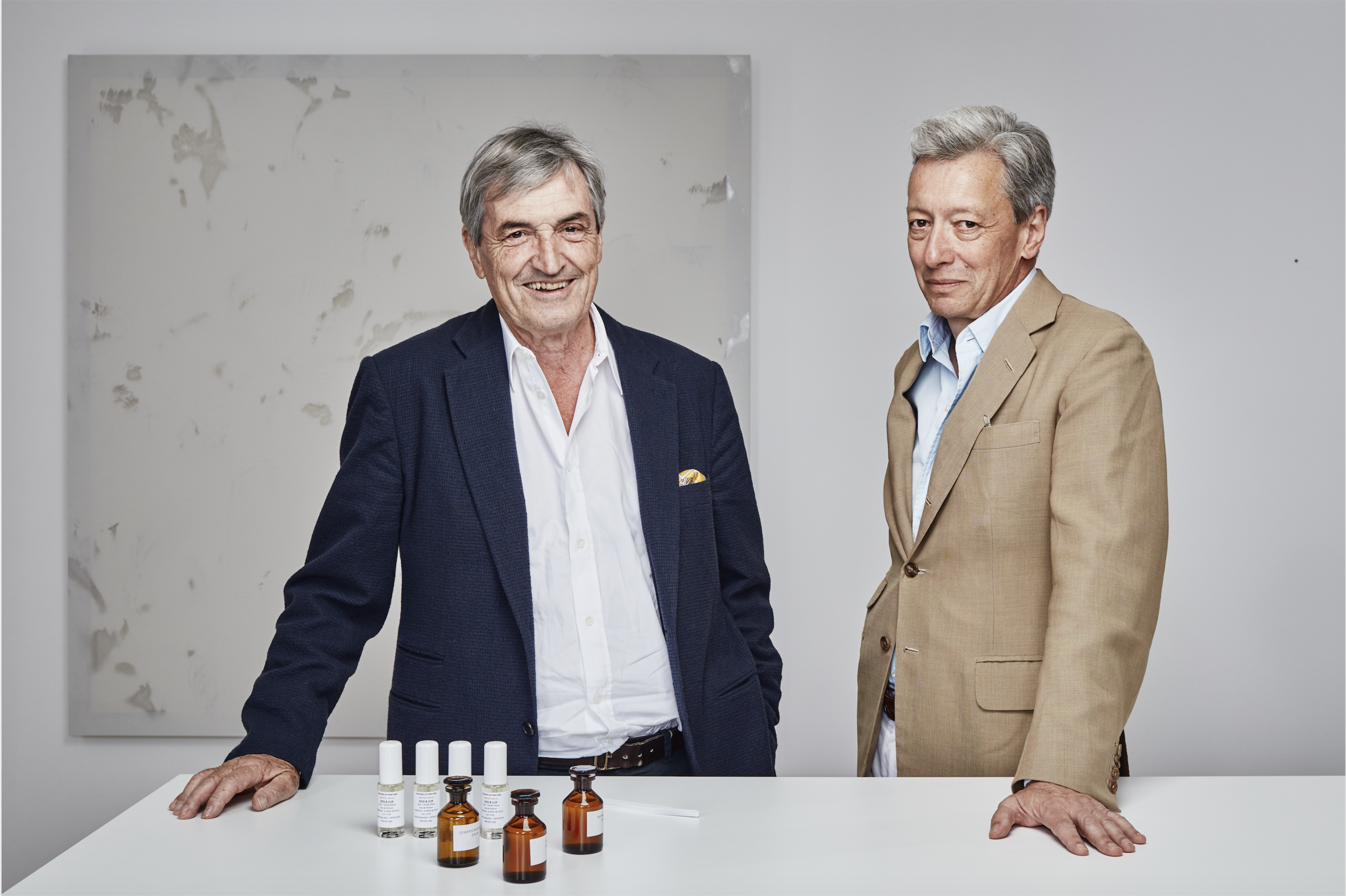 Master perfumer Jean-Claude Ellena and fragrance editor and publisher Frédéric Malle of Editions de Parfums, 2019.