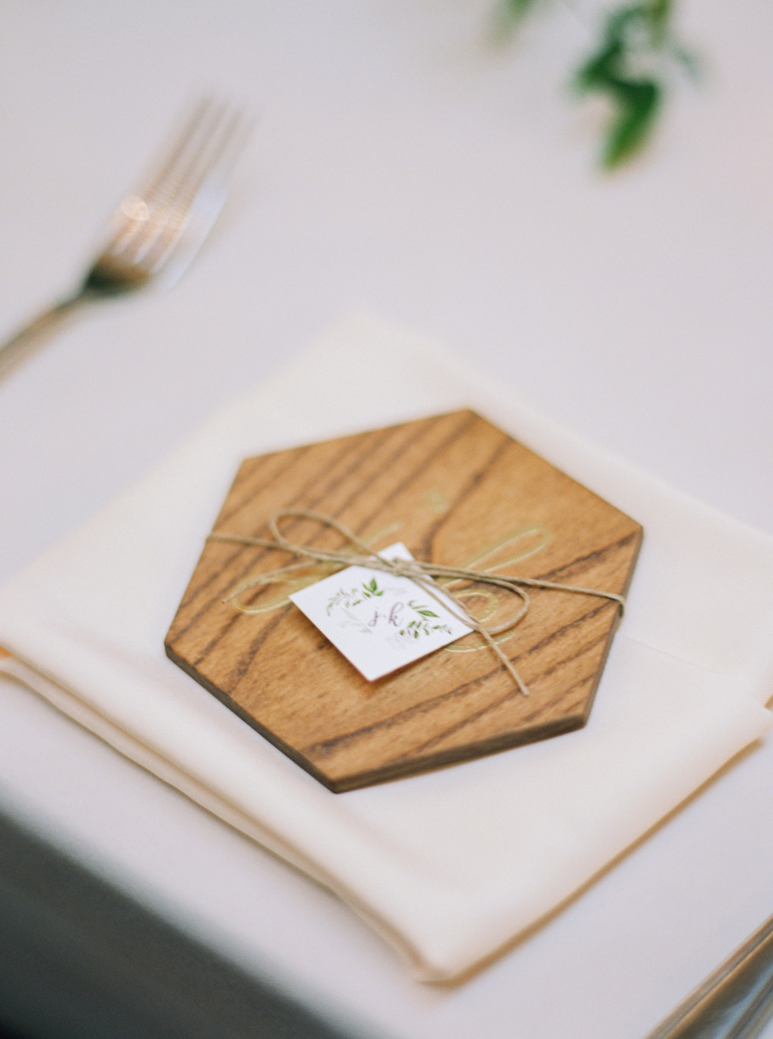 DIY Hexagon Wedding Coasters