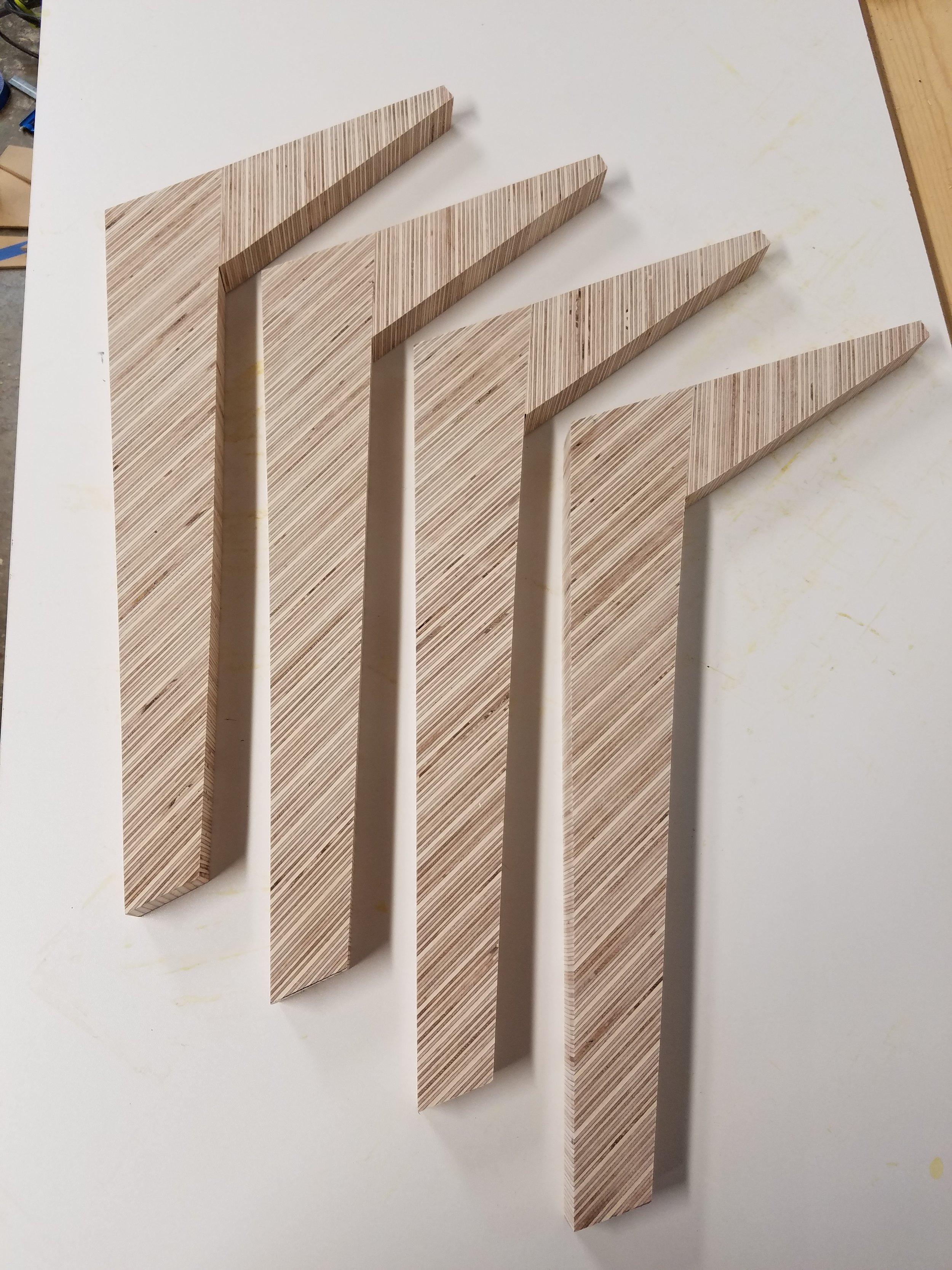 OSO DIY Modern Plywood Coffee Table Legs