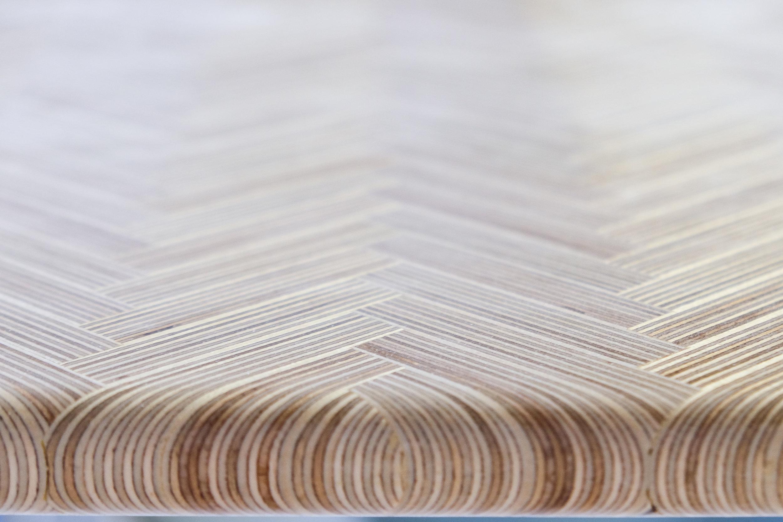 OSO DIY Modern Plywood Coffee Table Herringbone Pattern