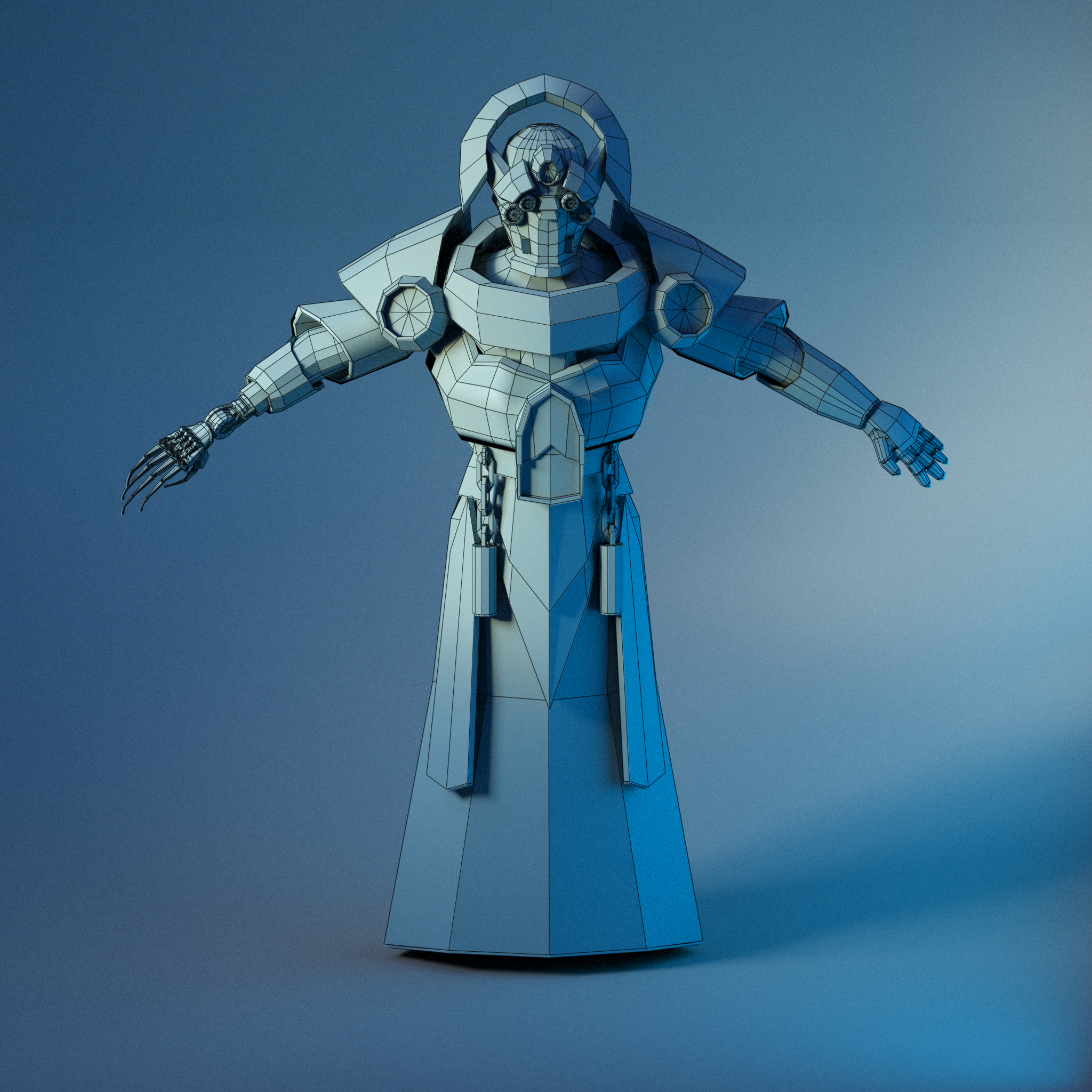 Low Poly TickTock Man