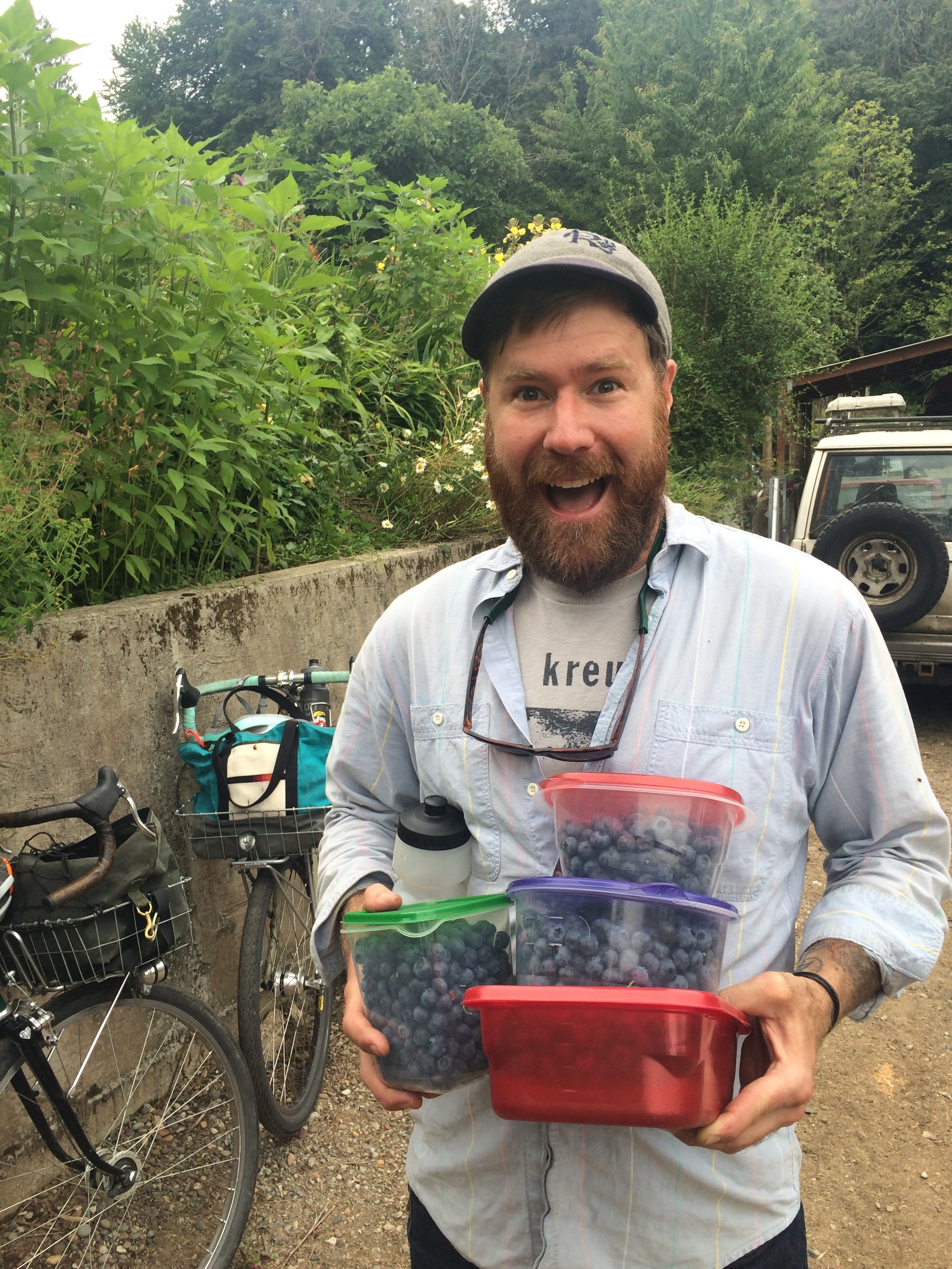 Kevin's 2017 haul at Sue's Blueberries.