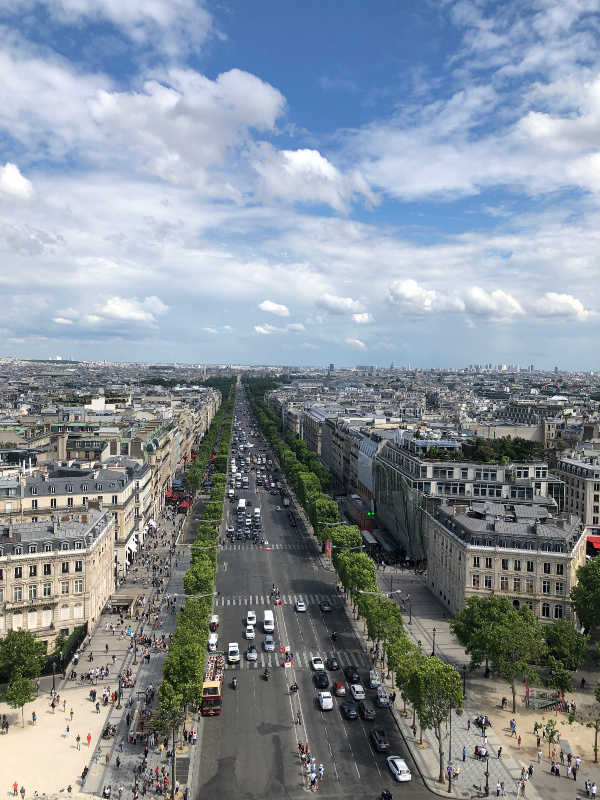 Top of Arc de Triomphe