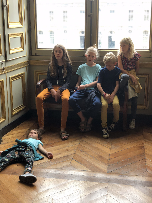 It was hot and stuffy upstairs and the Louvre wasn't as impressive to kids. One of these days hopefully they will realize where they were at and will want to go back and spend a full day here.