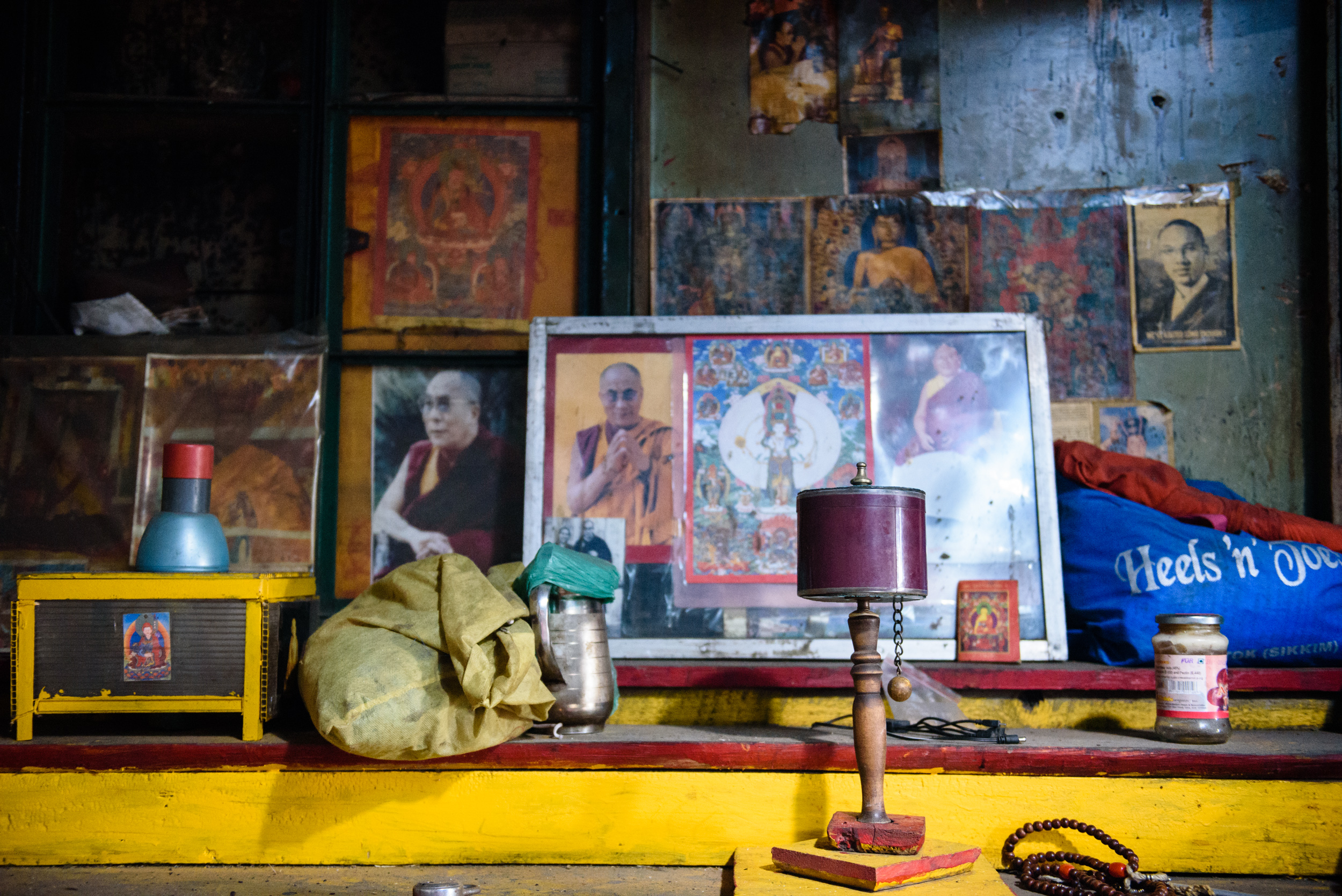 Inside Ugean's house at Nyima Ten