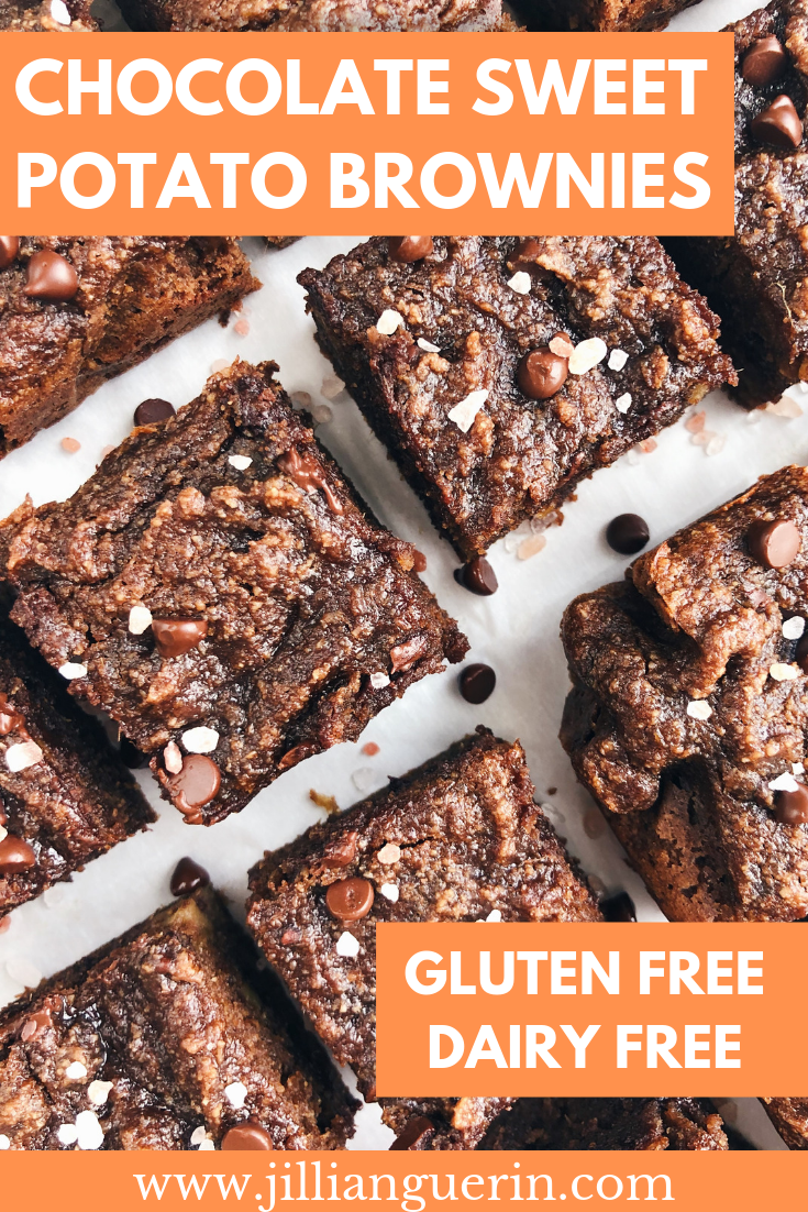 Chocolate Sweet Potato Brownies - gluten free/dairy free and so fudgey and delicious!