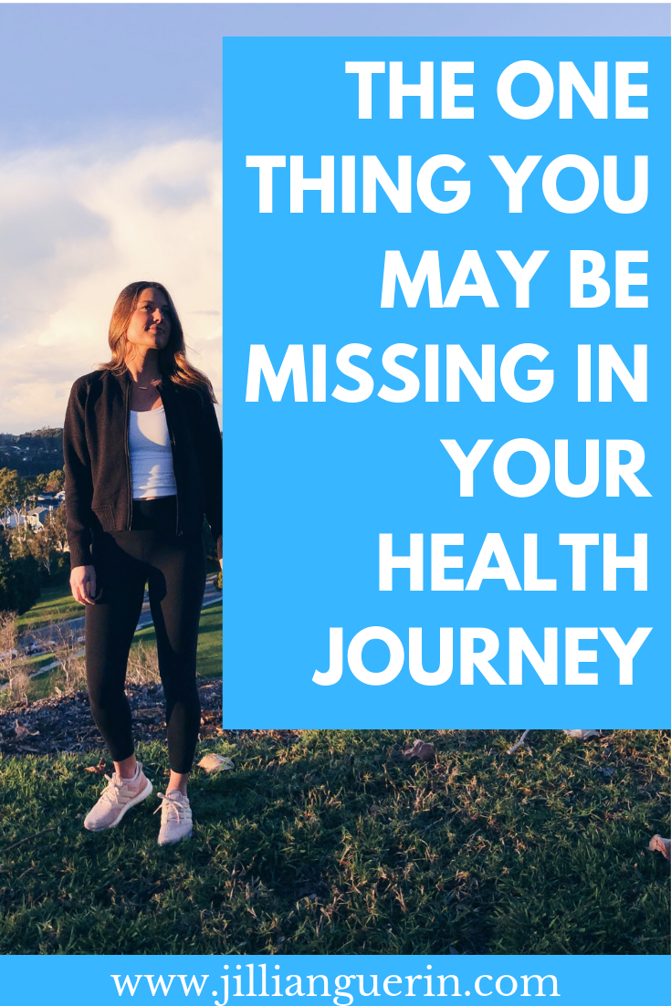 The one thing you may be missing in your health and weight loss journey