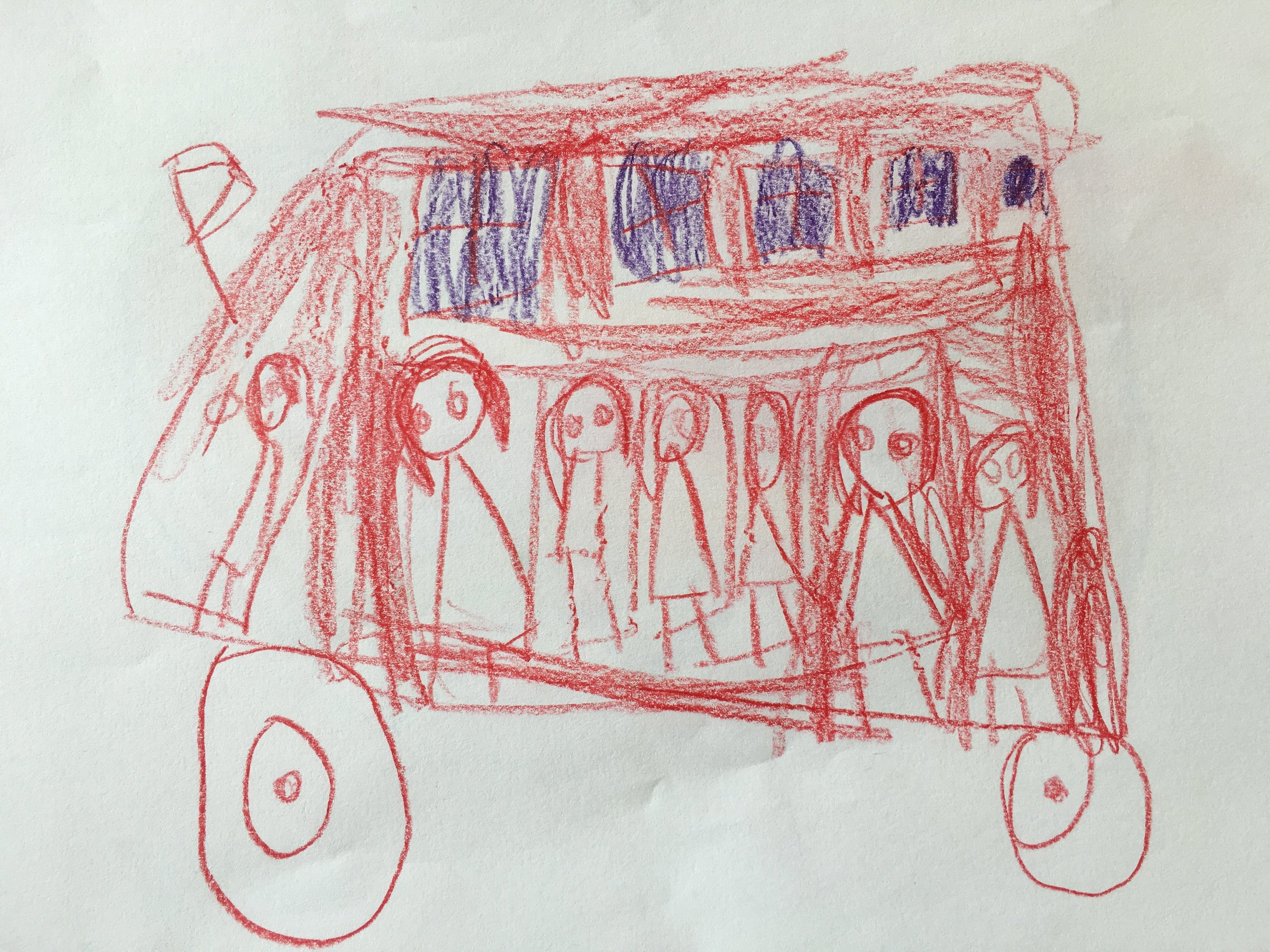 Roter Autobus, Mädchen 4 Jahre, Kindergarten 1180 Wien