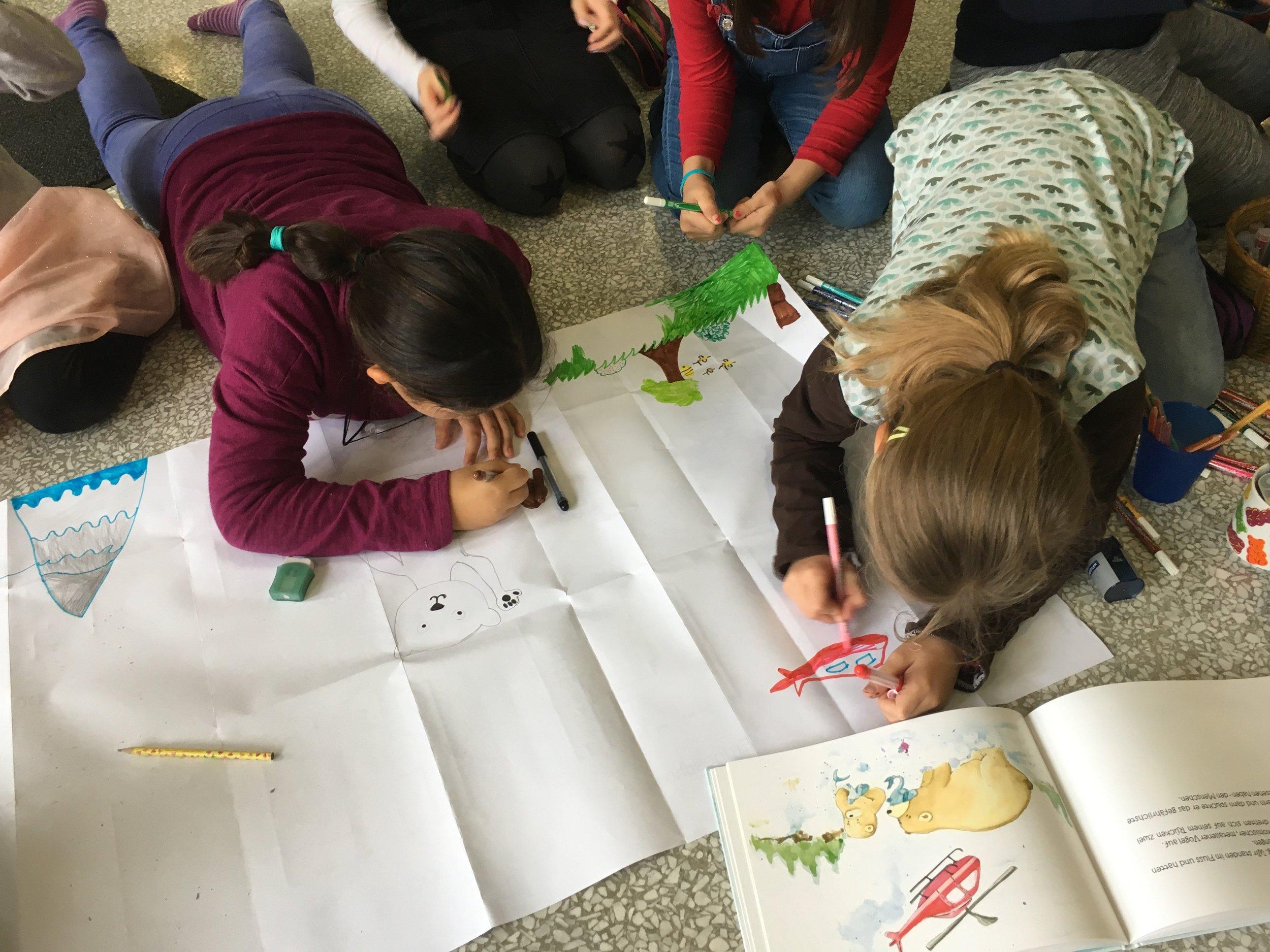 """Workshop zu """"BÄR=BÄR"""", Volksschule 1210 Wien"""