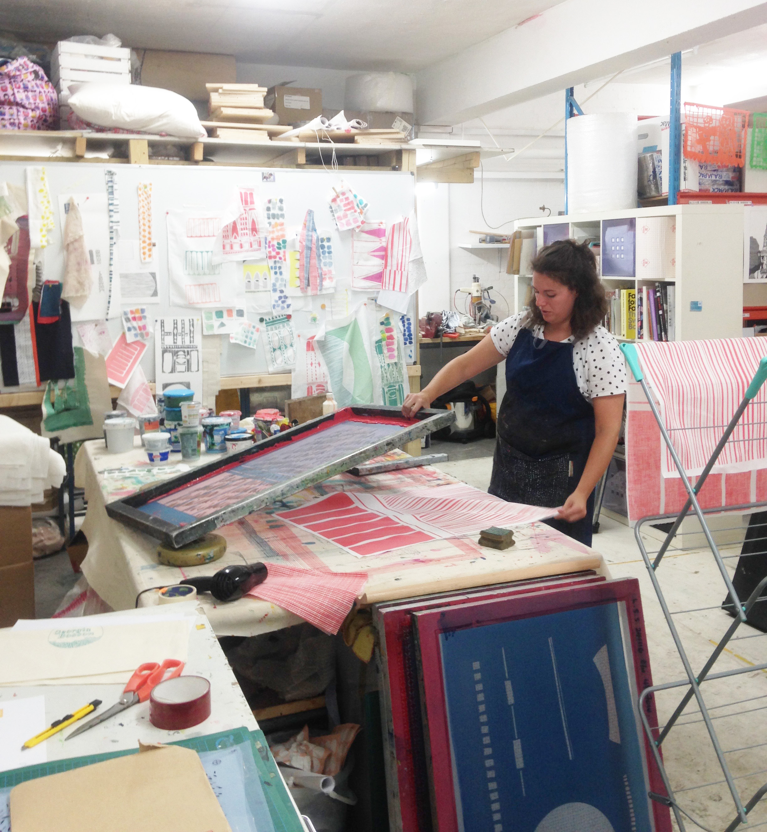 I think this image says it all really, i am incredibly messy when I am in the moment and working on an idea (and all the other times too if I'm honest). I take up a lot of space and am eternally grateful for the patience of the people that I share my studio with.
