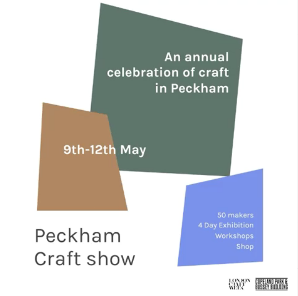 The  Peckham Craft Show  is a celebration of Contemporary Craft, hosted at Peckham's Copeland Gallery. Craft Show takes craft out of the trade fair and market stall setting to give beautiful works of craft the space and attention they deserve.   There is a talks and workshops programme as well as a beautifully curated shop where you can pick up work by some of the 50 makers involved in the show.  This is a beautiful show and not to be missed by South Londoners!