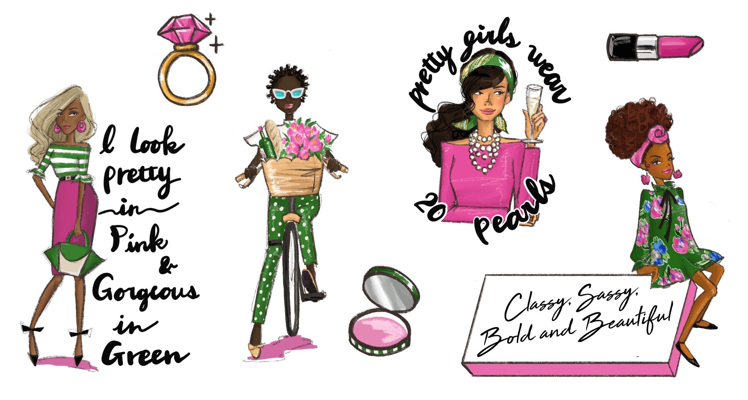 Stationary sticker projects - Maiko Illustration