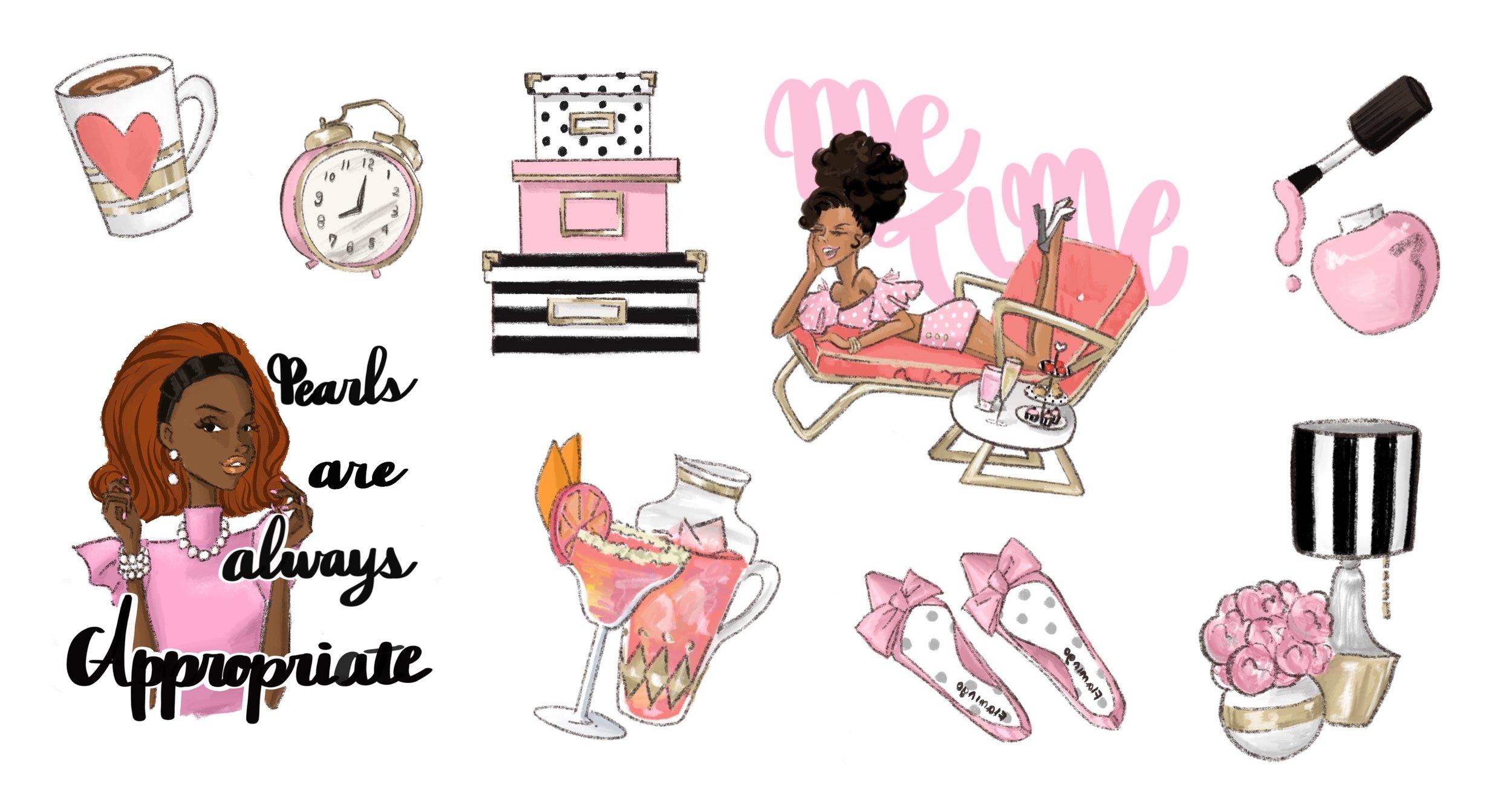 Stationary Sticker Project - Maiko Illustration