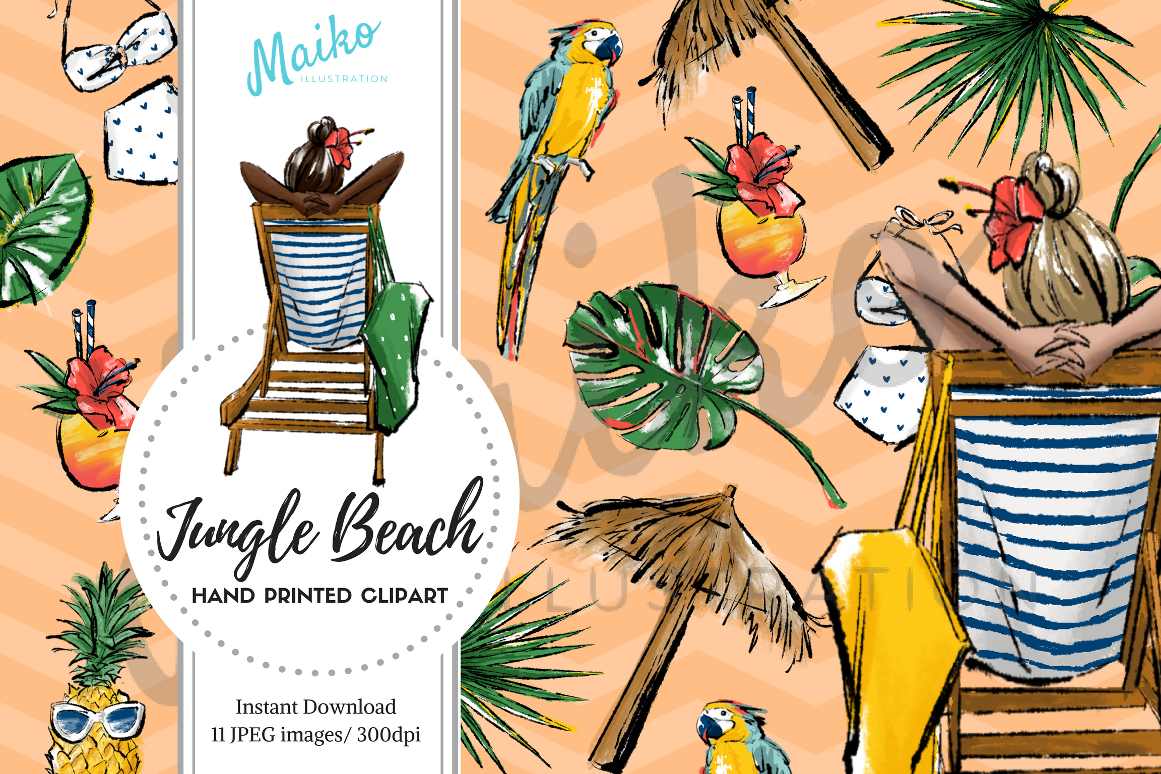 fashion illustrator Jungle Beach