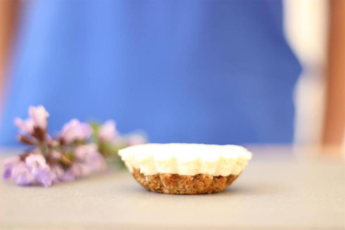 Peanut butter lemon tart