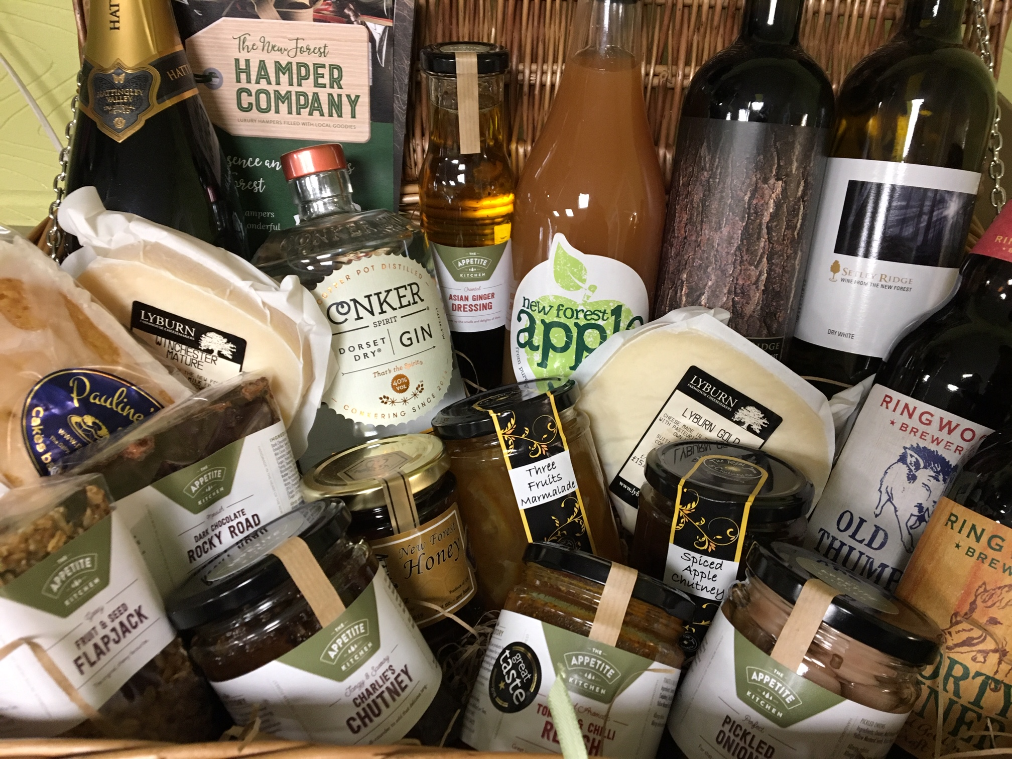 Large hamper gift full of local goodies..