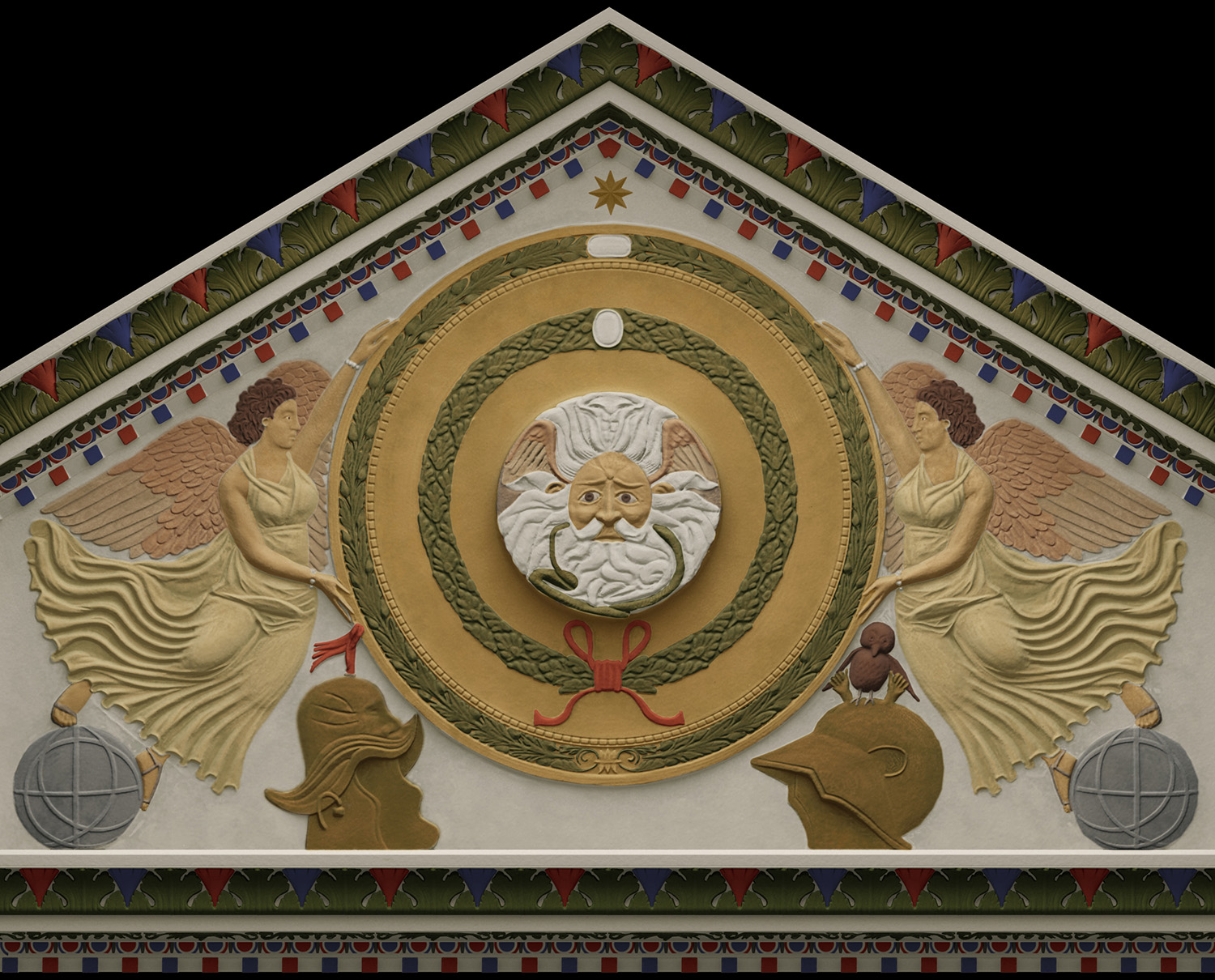 Originally, Baths Temple Pediment was coloured.