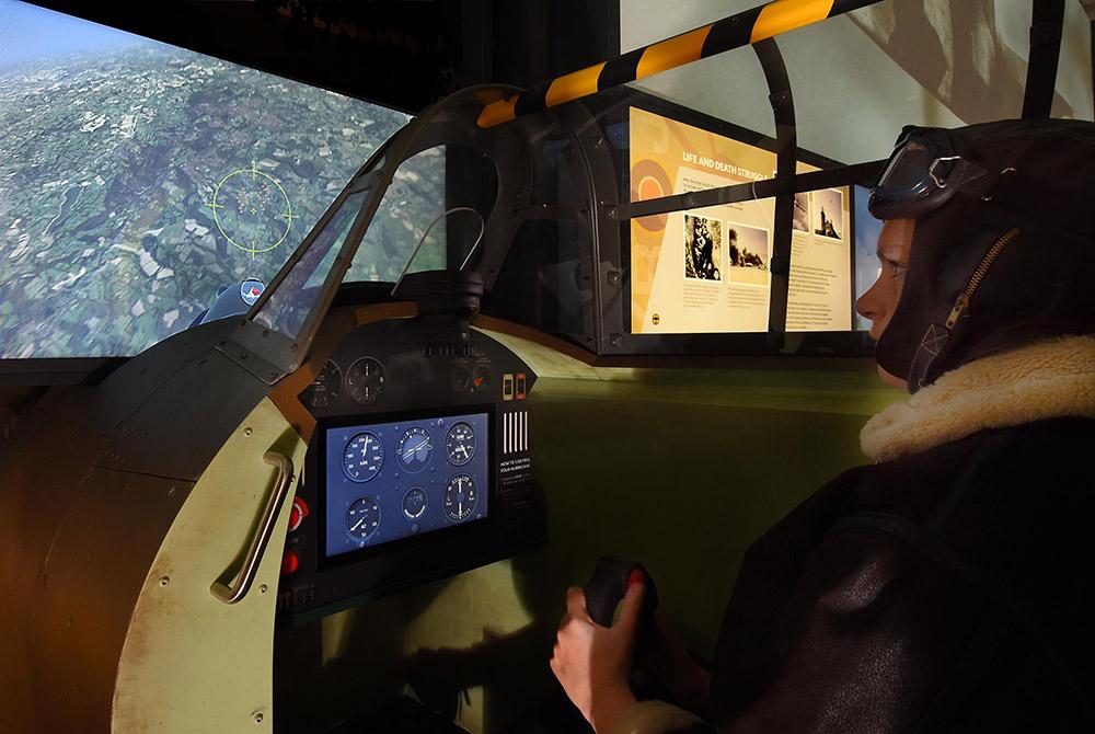 Flight simulator on site.