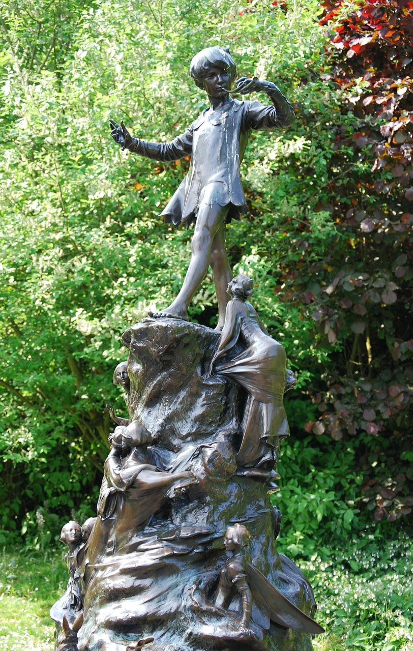 Peter Pan statue in Kensington Gardens. Image by  Stevebidmead  on  Pixabay
