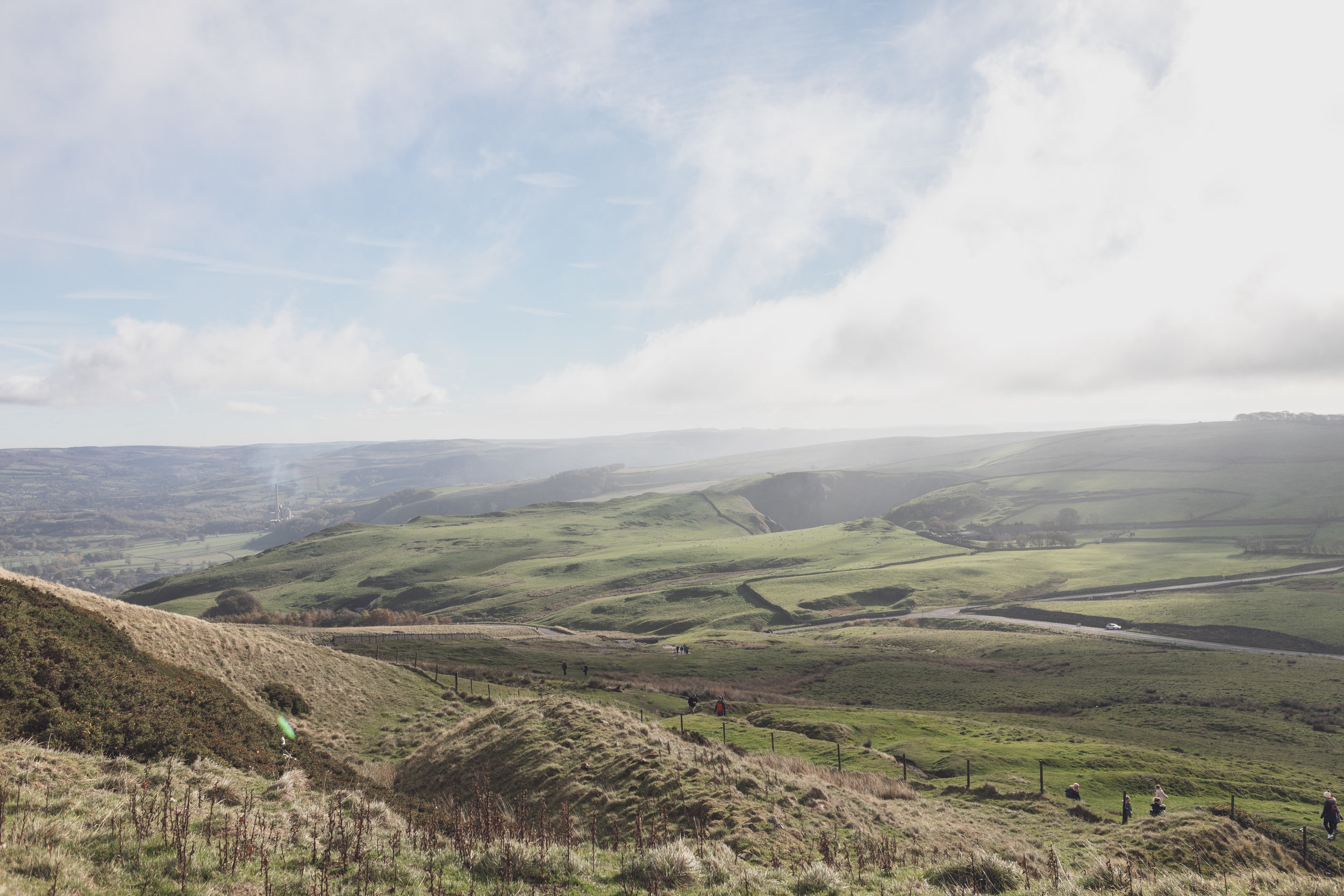View over the Peak District near Sheffield, England, taken by handmade shoe maker Kenneth McClure