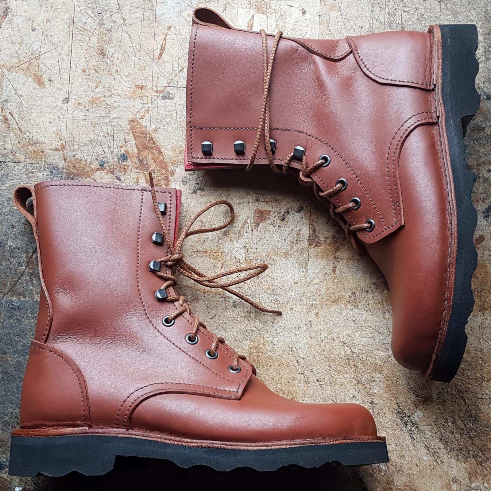 custom leather work boots