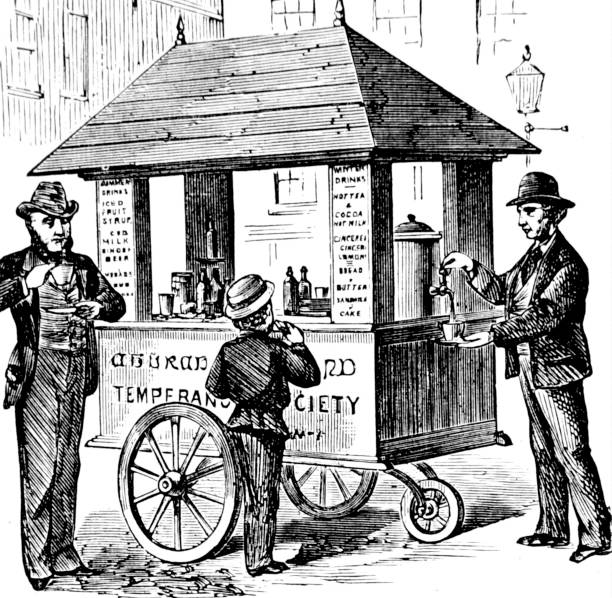 MOON goat Coffee   Temperance Society created the first coffee carts to avoid overt drunkeness in wartime.