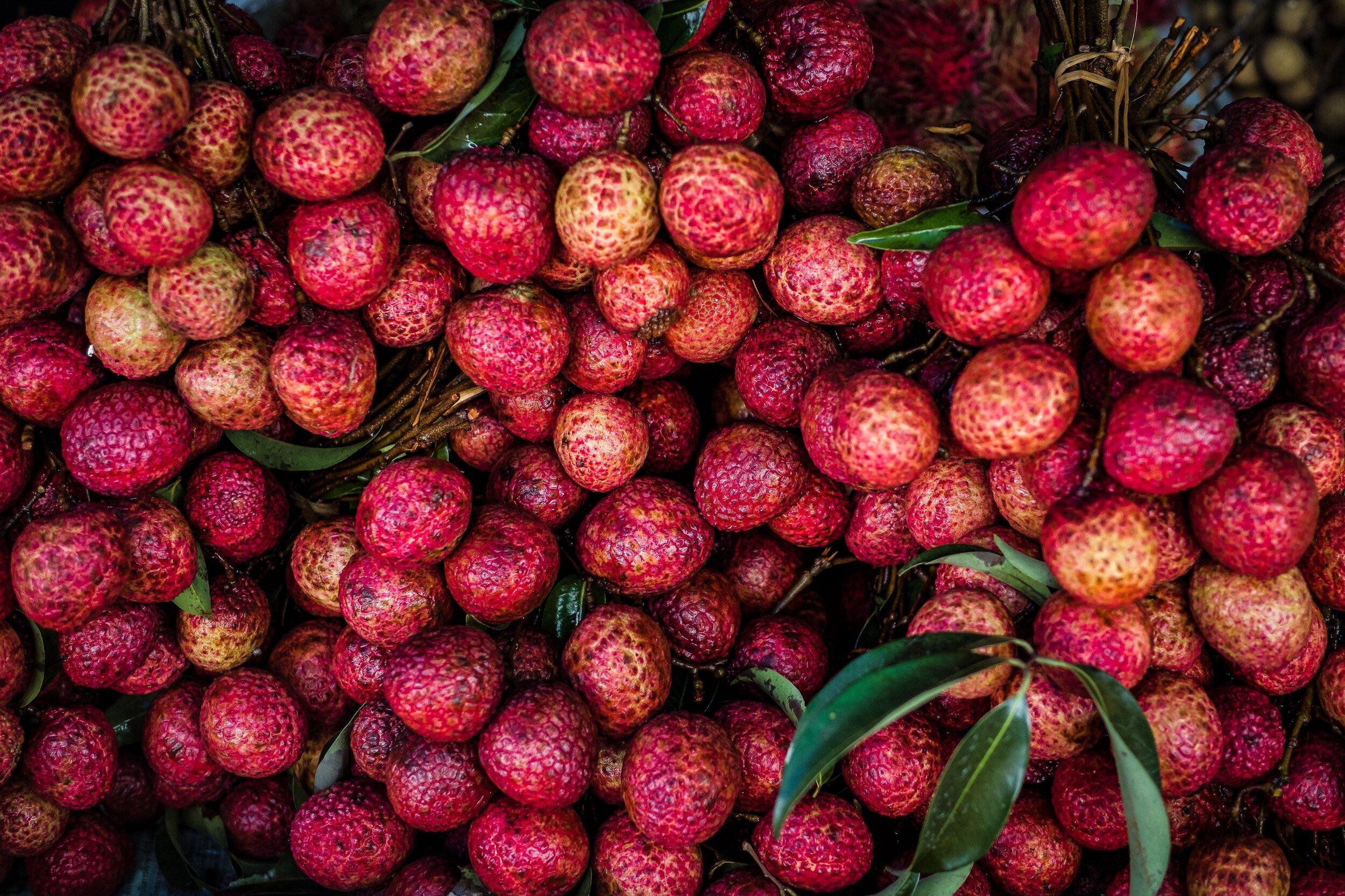 Mmm… lychees. Photo by  Nik Ramzi Nik Hassan