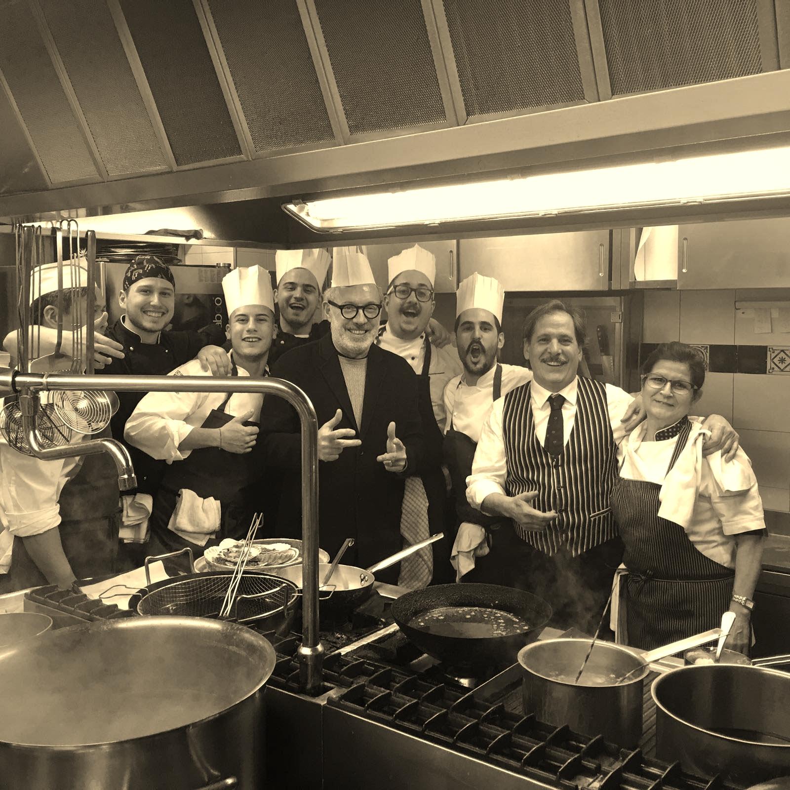 Trattoria del Pescatore Milano - Kitchen Staff