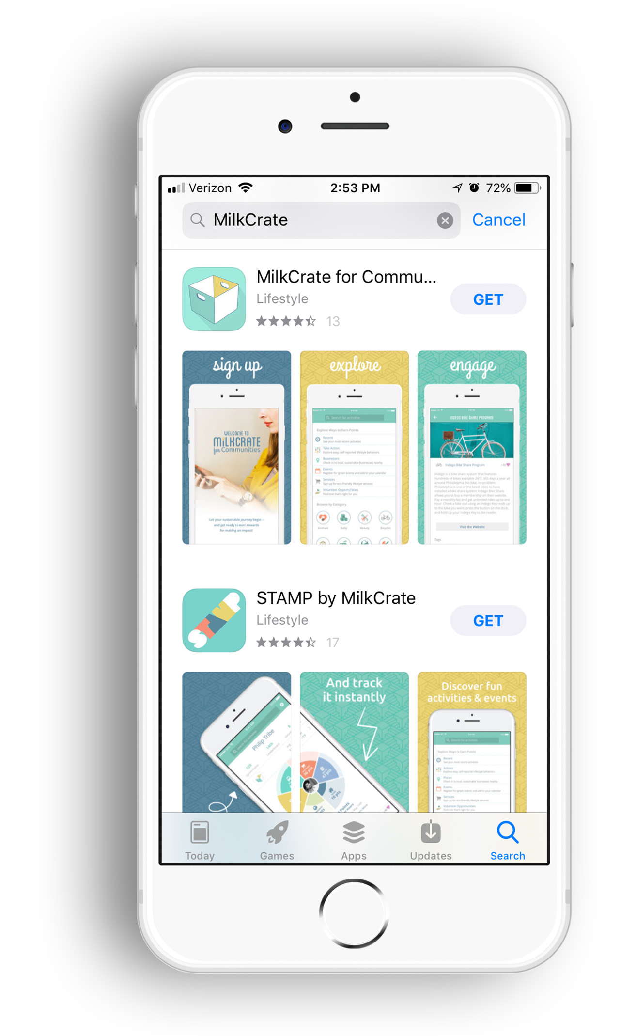 MilkCrate_App Store