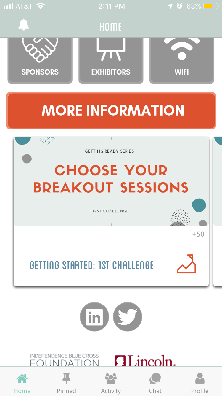 Divide your challenges up around an event, provide 3 before, 3 during, 3 after. -