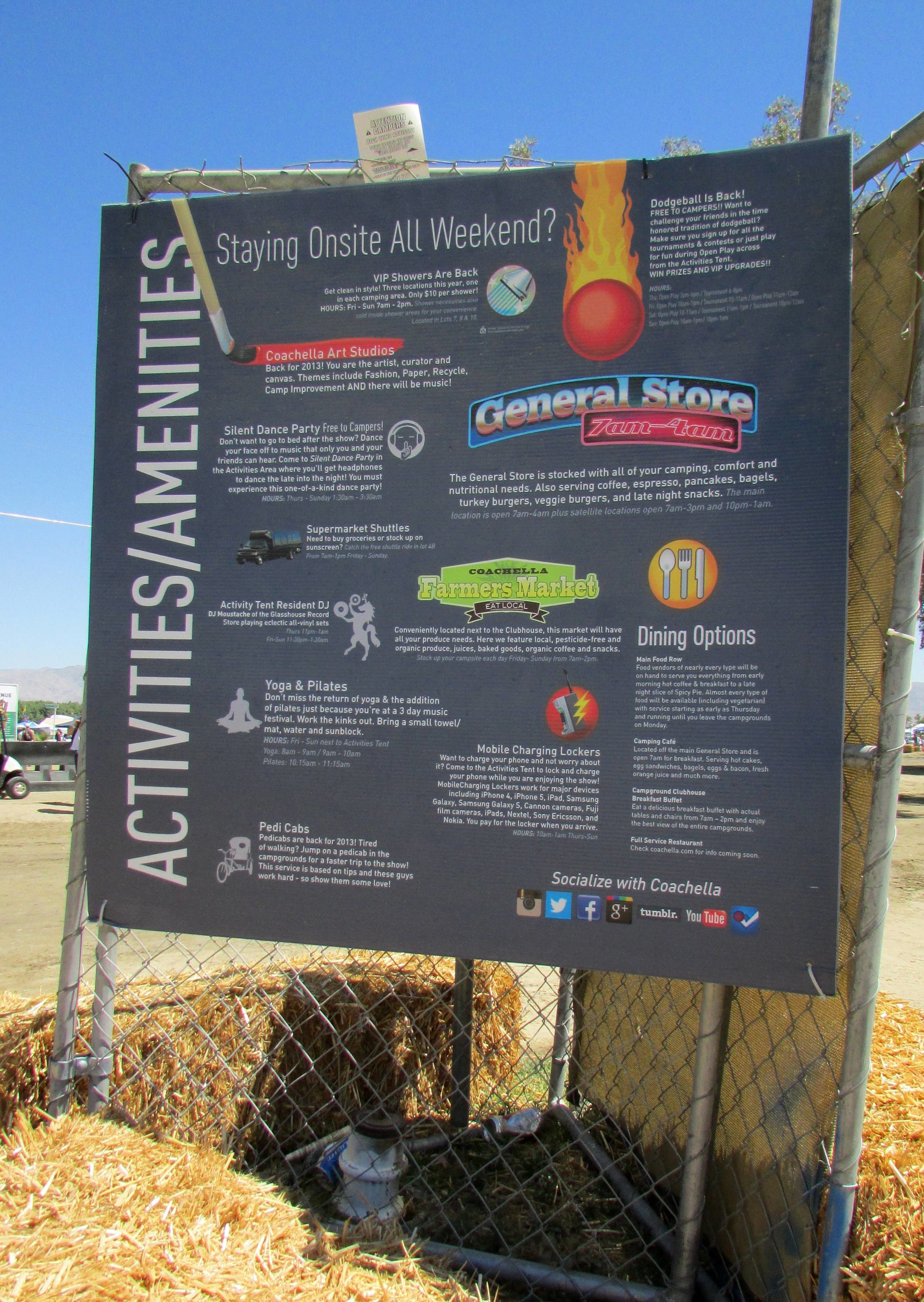 There are a plethora of activities and services to be found in and around the campgrounds