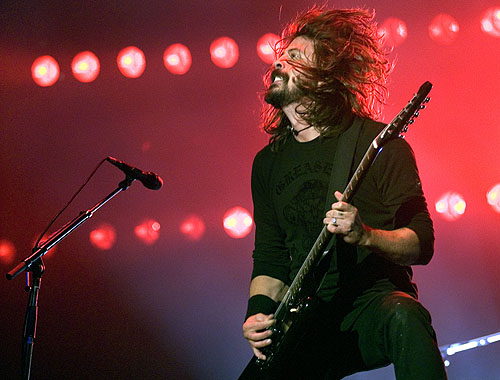 Dave Grohl at the V Festival, England in 2007