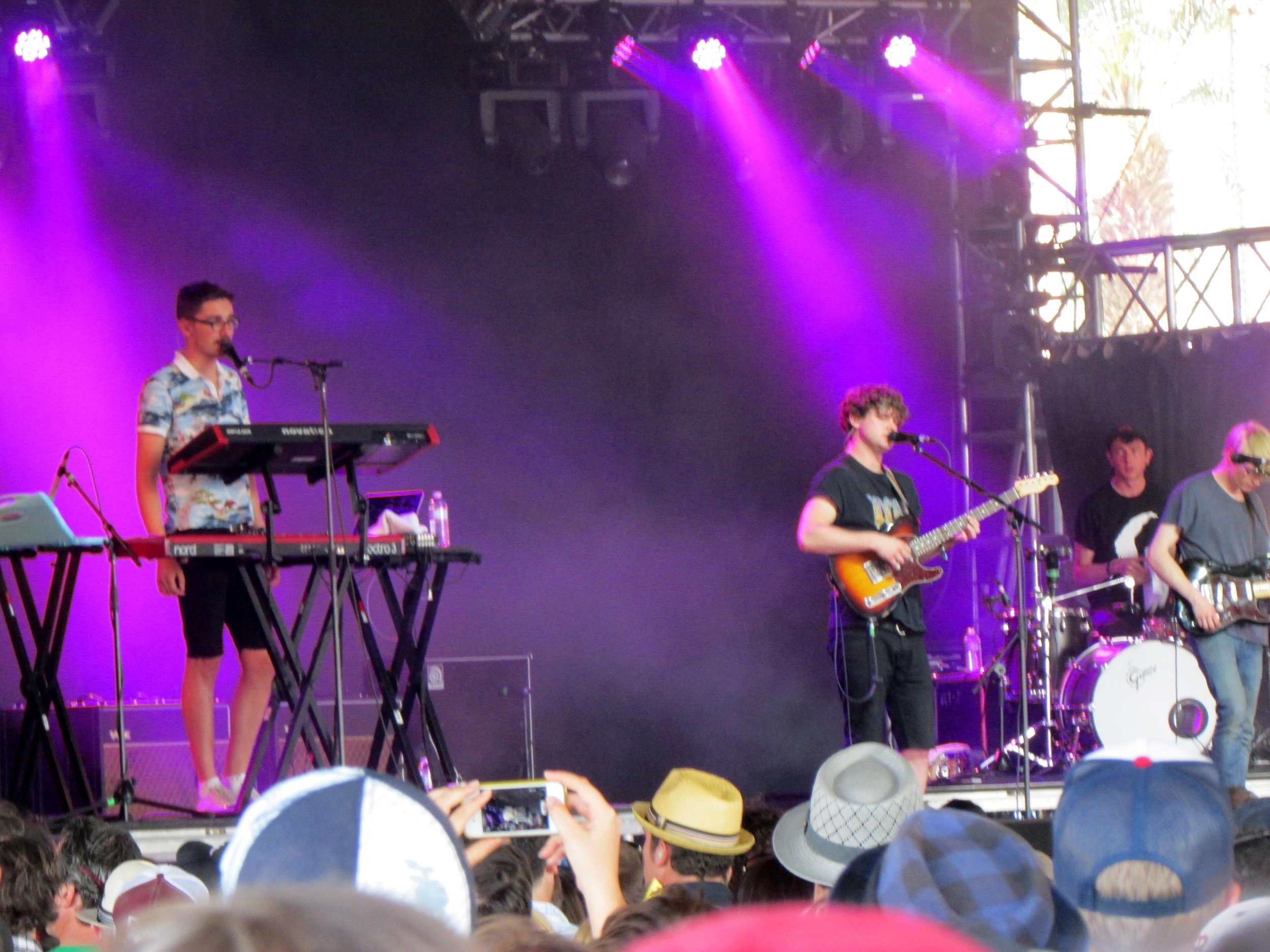 Alt-J onstage in the Mojave Tent