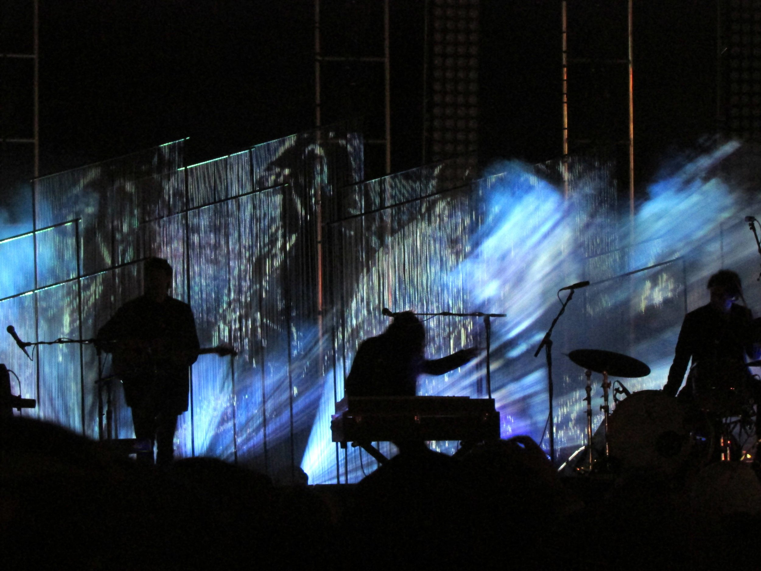 11 - Beach House's set design was exquisite, with long glass-like chandeliers hanging from the roof of the stage.JPG