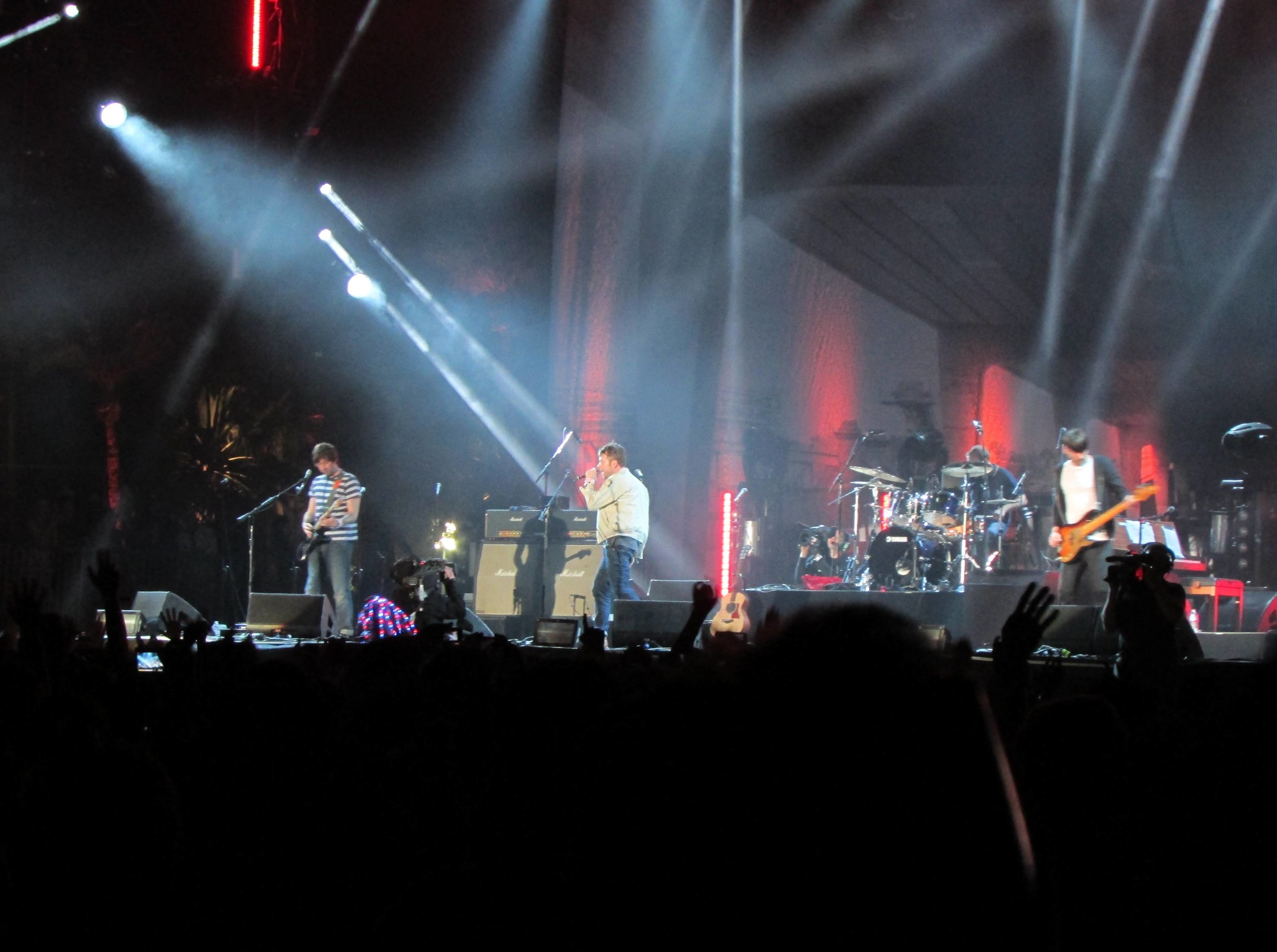 Britpop barons Blur closing off the day on the main Coachella Stage