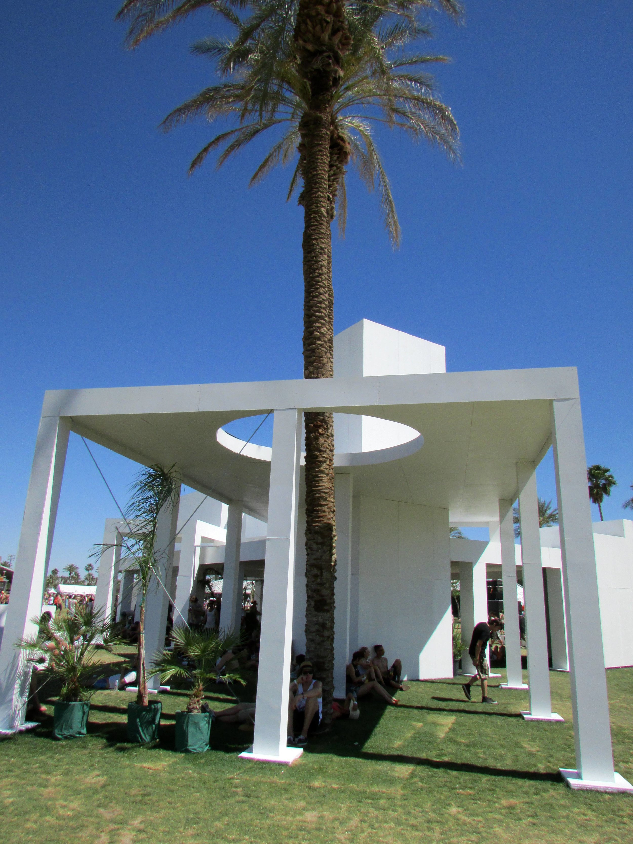 9 - The stately 'Mirage' sculpture, envoking the modernist archiectural style of mid-21st century Palms Springs homes.JPG