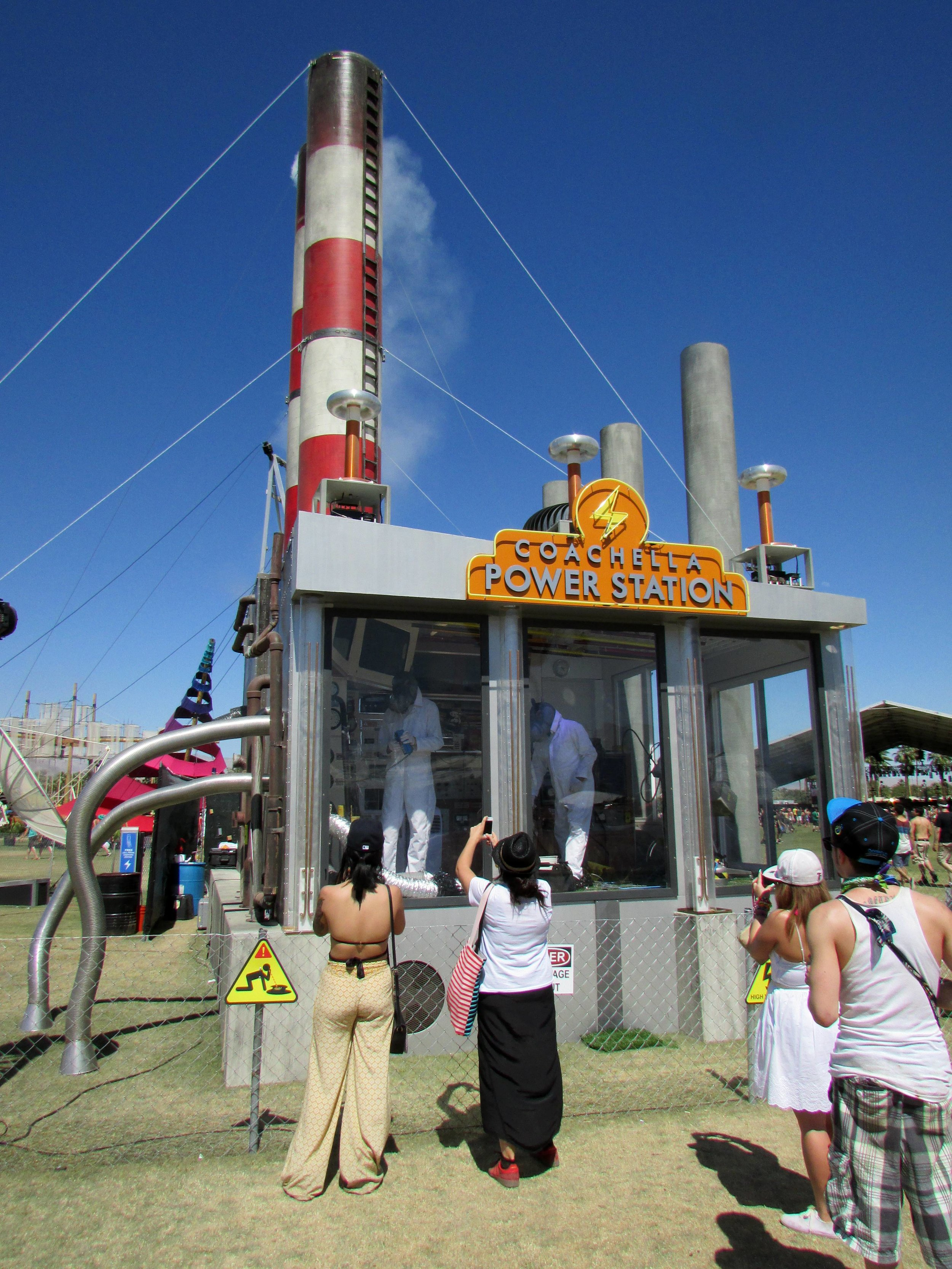 10 - The entertaining Coachella Power Station, run by hippo-suited scientists.JPG