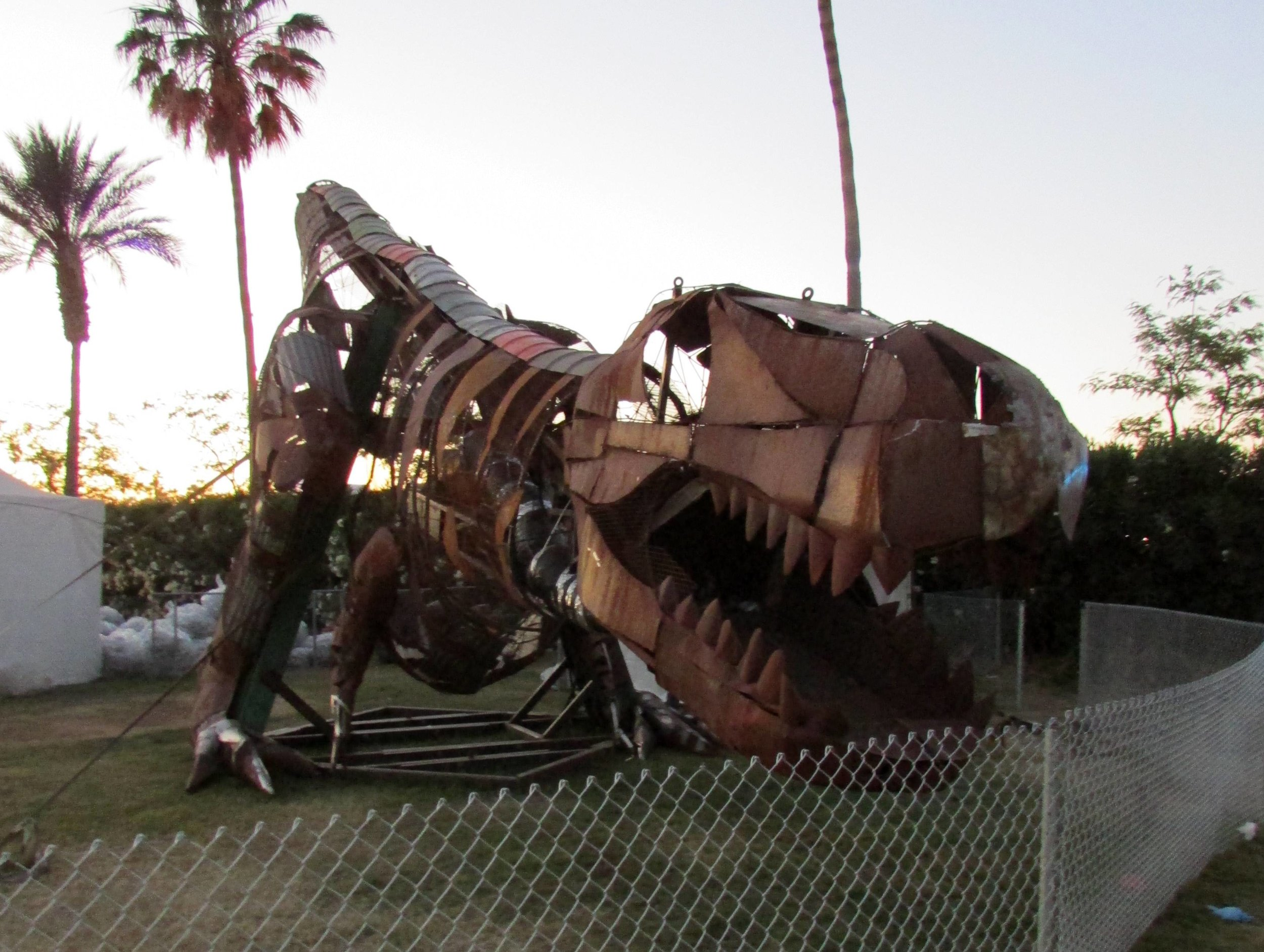 12 - Recyclasaurus Rex is ready 'to chow down on every bottle, can and gate-jumper he can find'.JPG
