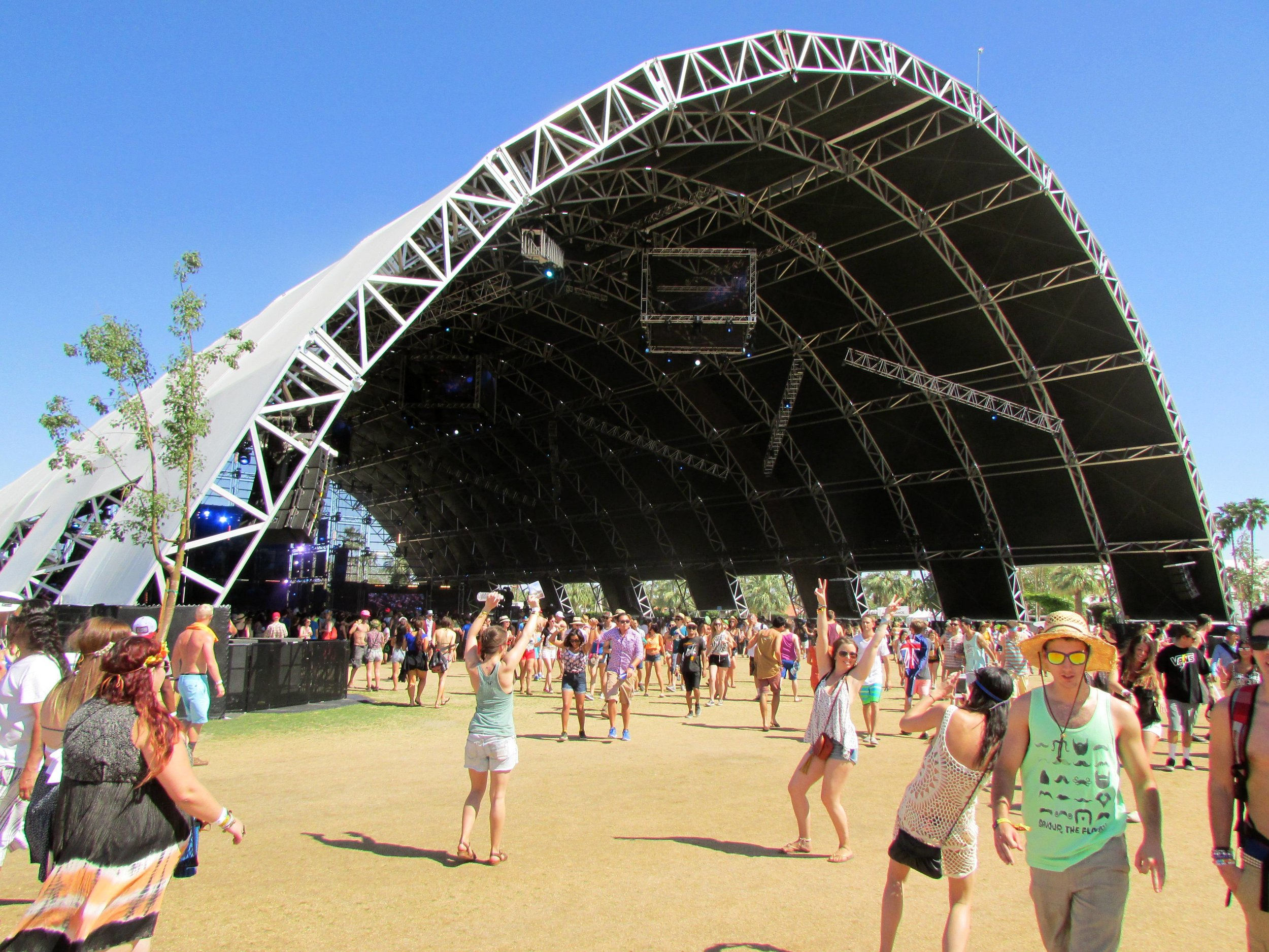 The monolithic Sahara Tent, home to one long EDM party