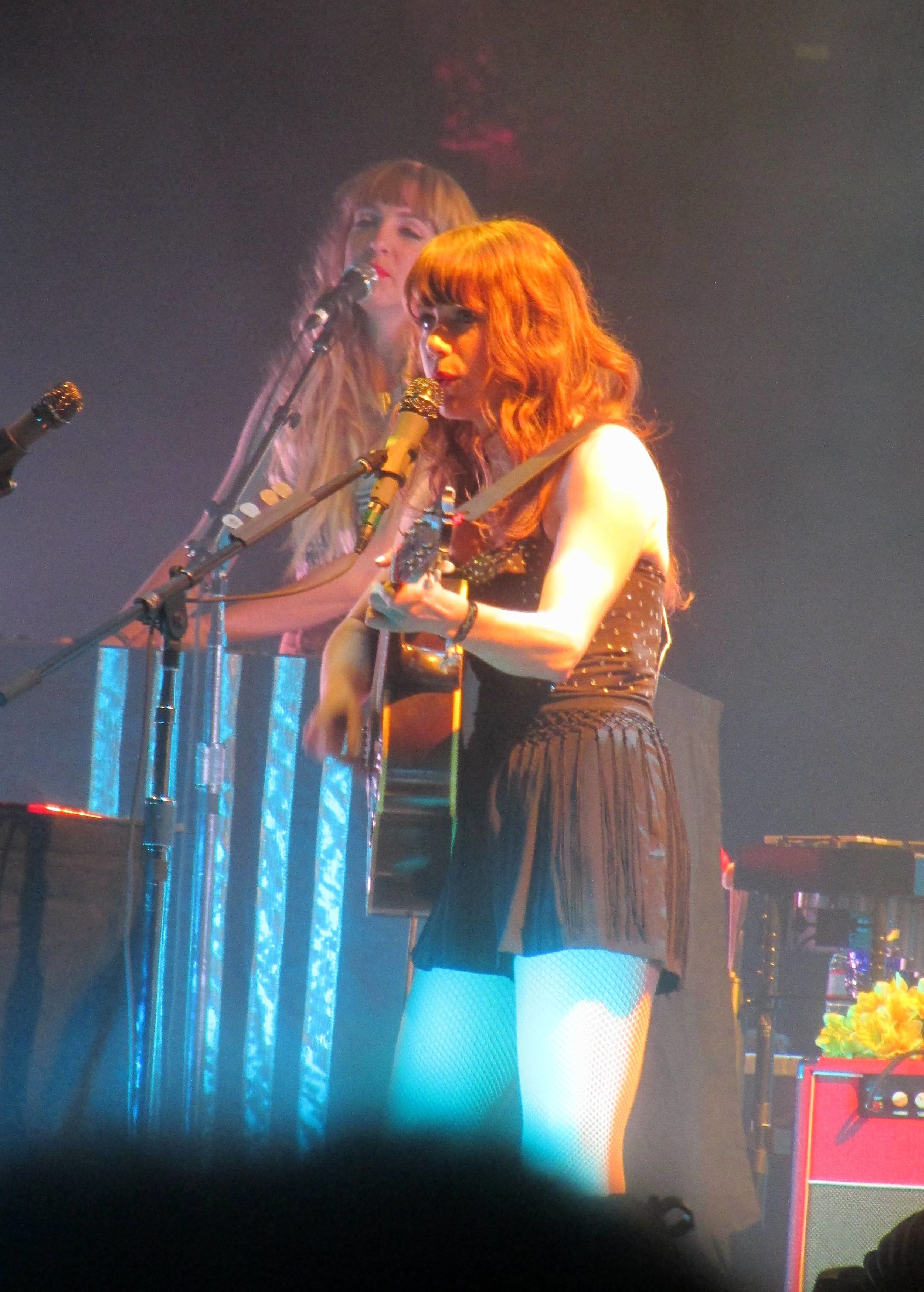 5 - The gorgeous Jenny Lewis, backing vocalist and multi-instrumentalist of The Postal Service.JPG