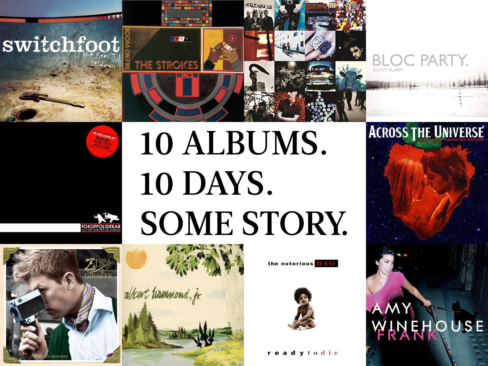 So what's your story? Have you been tagged in the 10 Albums challenge too? Let me know in the comments what albums you'd choose.