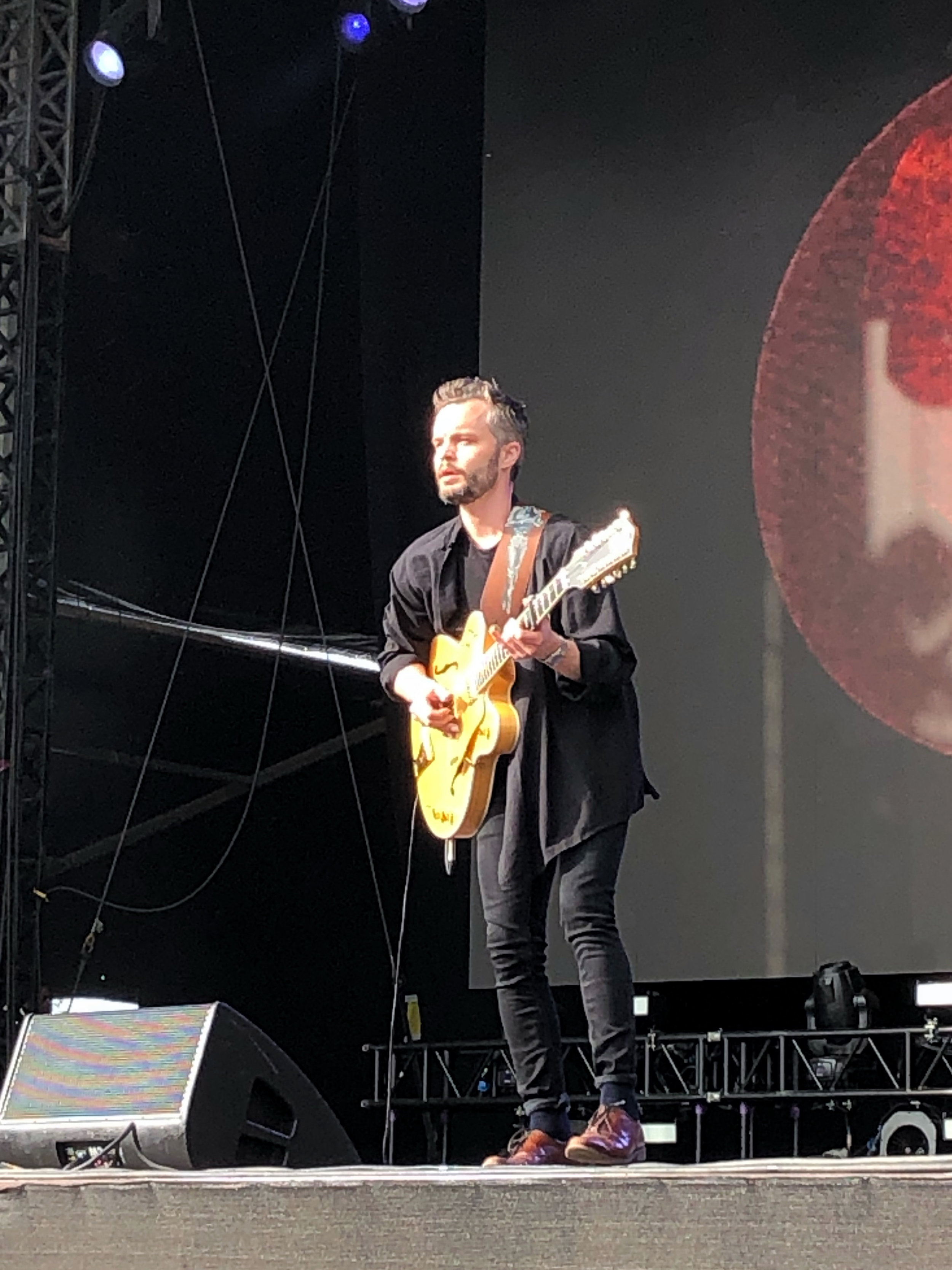 The Tallest Man On Earth, alive on stage at All Points East 2019