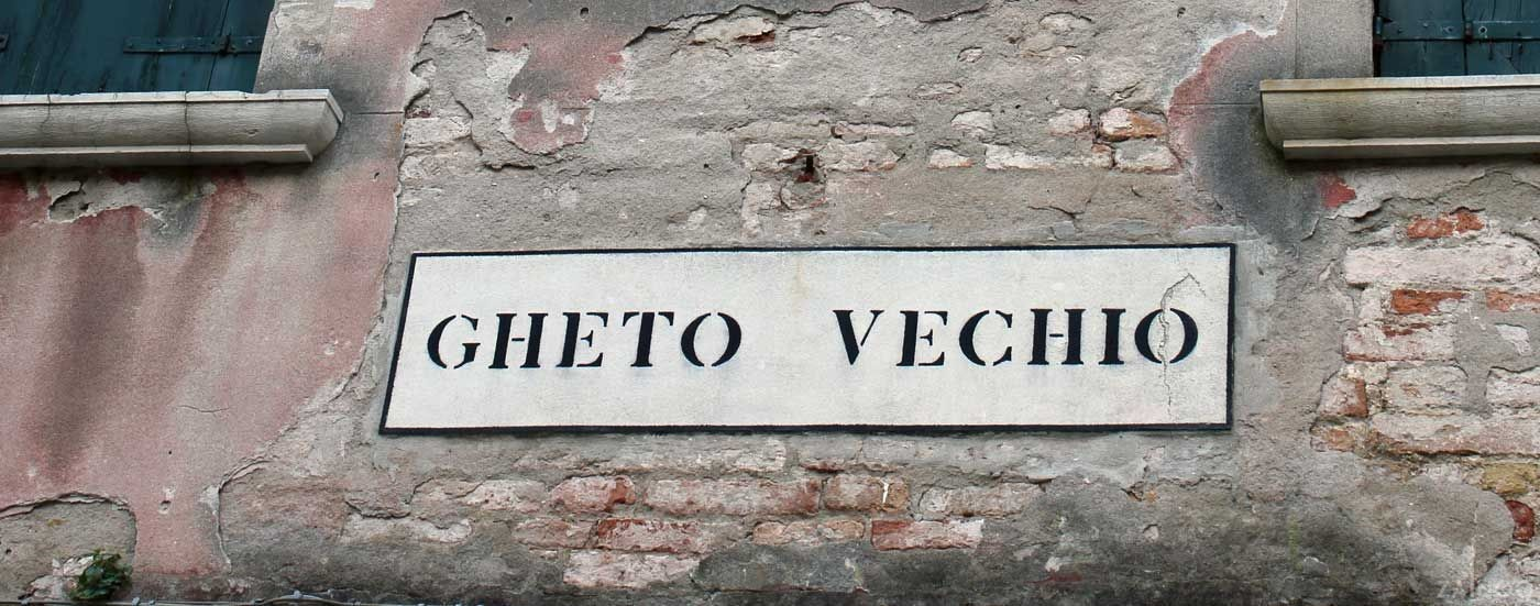 "The Venetian Ghetto was the area of Venice in which Jews were compelled to live under the Venetian Republic. The English word ""ghetto"" is derived from the Jewish ghetto in Venice, originating from the Venetian gheto."