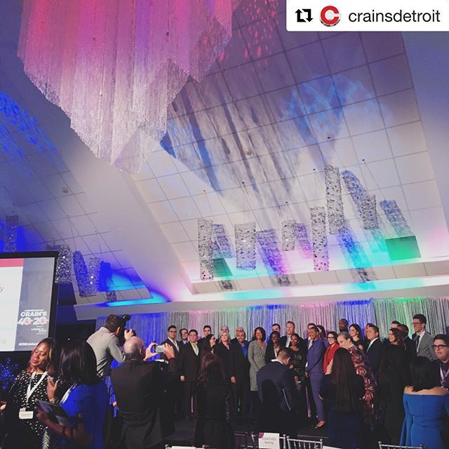 #Repost @crainsdetroit with @get_repost ・・・ Behind the scenes of our 40 Under 40 group photo! Such a wonderful night celebrating our 2018 20 in their 20s and 40 under 40 honorees at the @roostertail. Can't wait to see what you all do next. #cdbcelebration