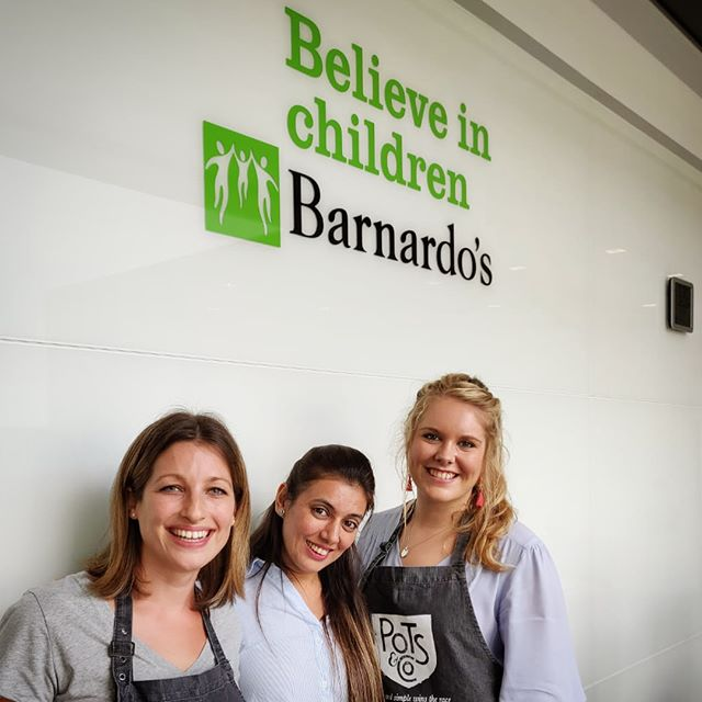 It was great to meet the fantastic people behind @barnardos_uk today at our sampling event in their offices. Thank you for having us! We are very excited @pots_and_co are working in partnership with this amazing charity. #potsandco #taste #yummy #barnardos #charity #partnership