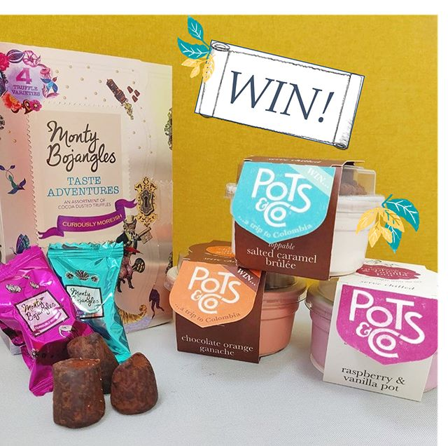 . It's competition time! We've teamed up with our friends at @montybojangles to bring you the best colourful bank holiday treats. . A Taste Adventures Treasure Box and three Pots & Co puds in a cute little cool bag! . All you have to do is like this photo, make sure you are following @pots_and_co and @montybojangles and tag a friend who would love this prize! . Competition closes Midnight 27.08.18 |UK only│Good Luck! . T&Cs in the Bio
